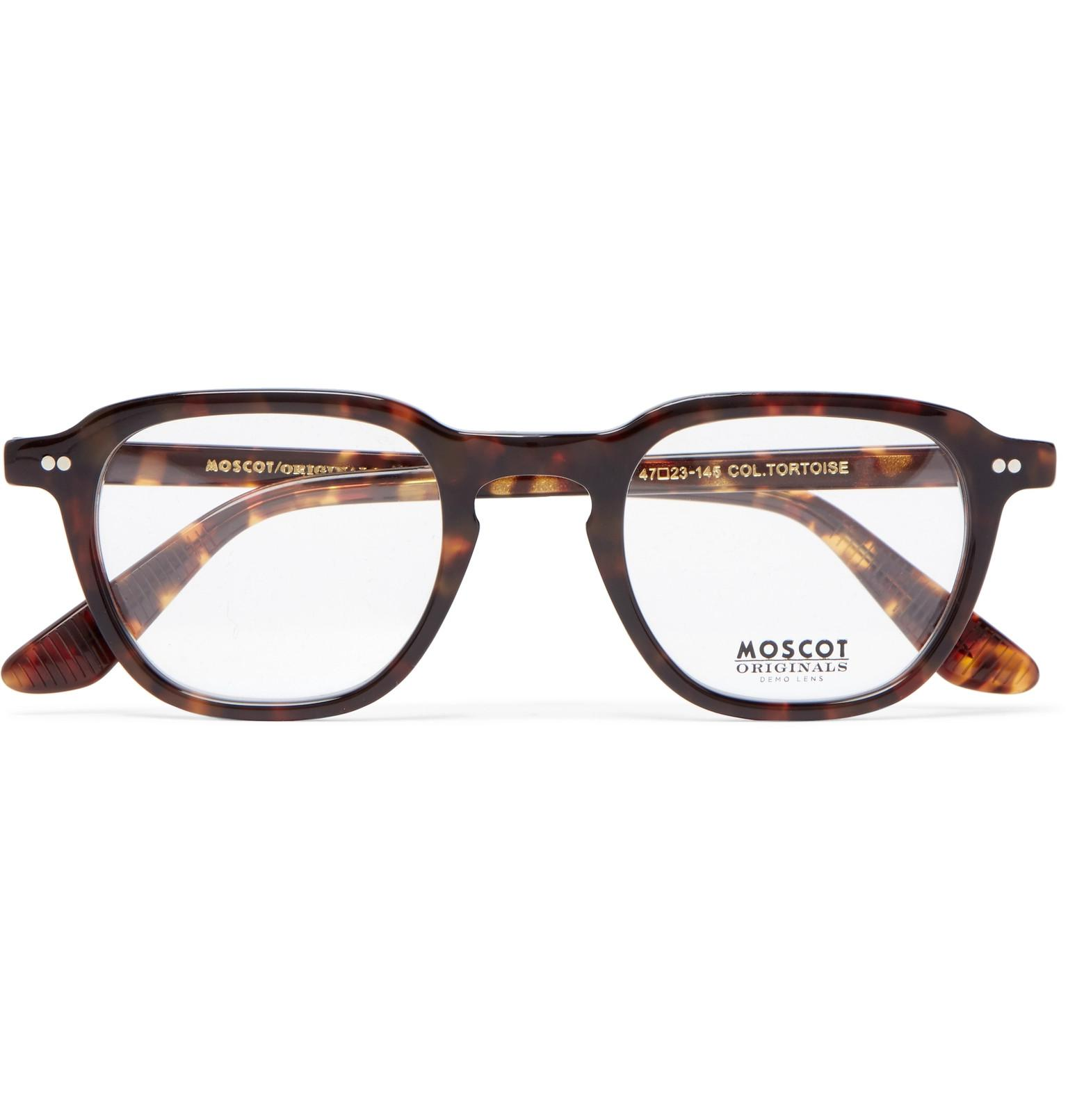 f04edba8ce3 Moscot Billik Round-frame Tortoiseshell Acetate Optical Glasses in ...