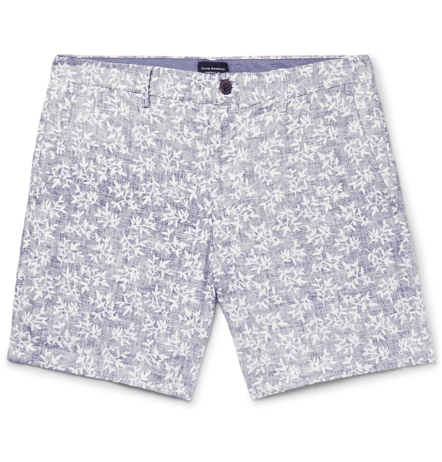 Baxter Slim-fit Stretch Linen And Cotton-blend Shorts Club Monaco rLz16ZU