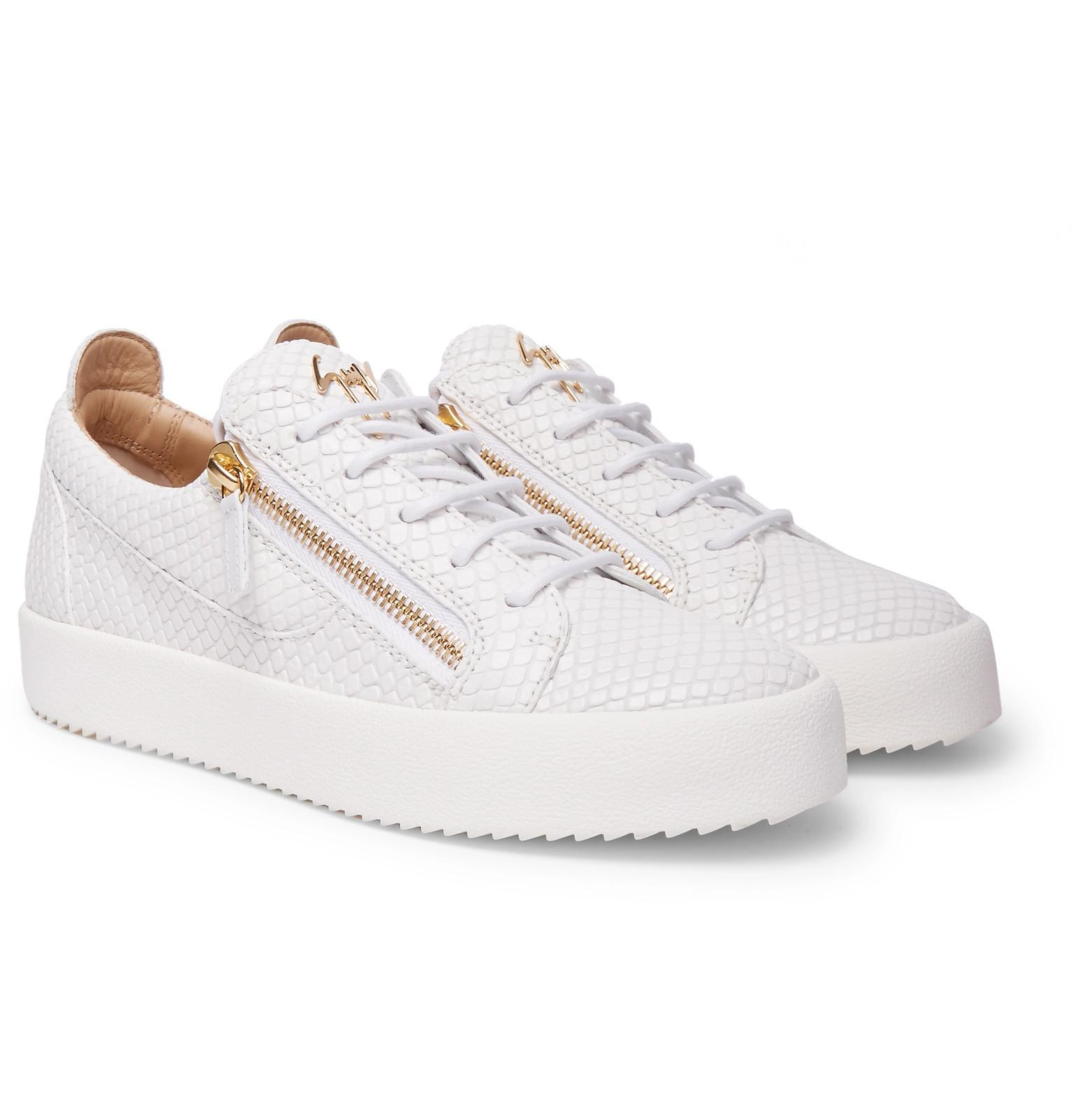 Giuseppe Zanotti Logoball Snake-Effect Leather Sneakers sale with paypal clearance wholesale price prices sale online mpnP7