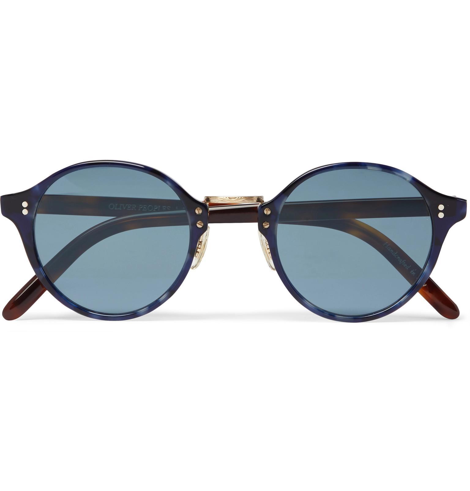 round-frame sunglasses - Blue Oliver Peoples FyqoZGdG