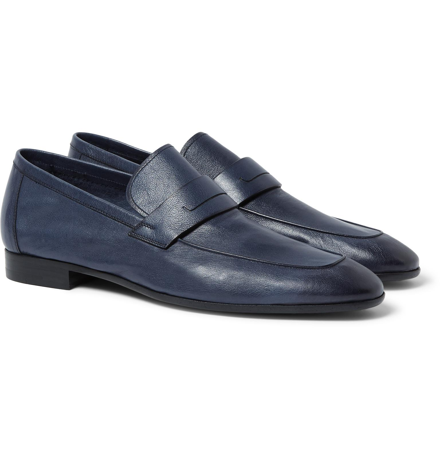 Lorenzo Rimini Leather Backless Loafers Berluti Discount Authentic Manchester Great Sale Cheap Price Sale Cheap Price Free Shipping Amazing Price Huge Surprise Cheap Price 1XNdfyDiA4