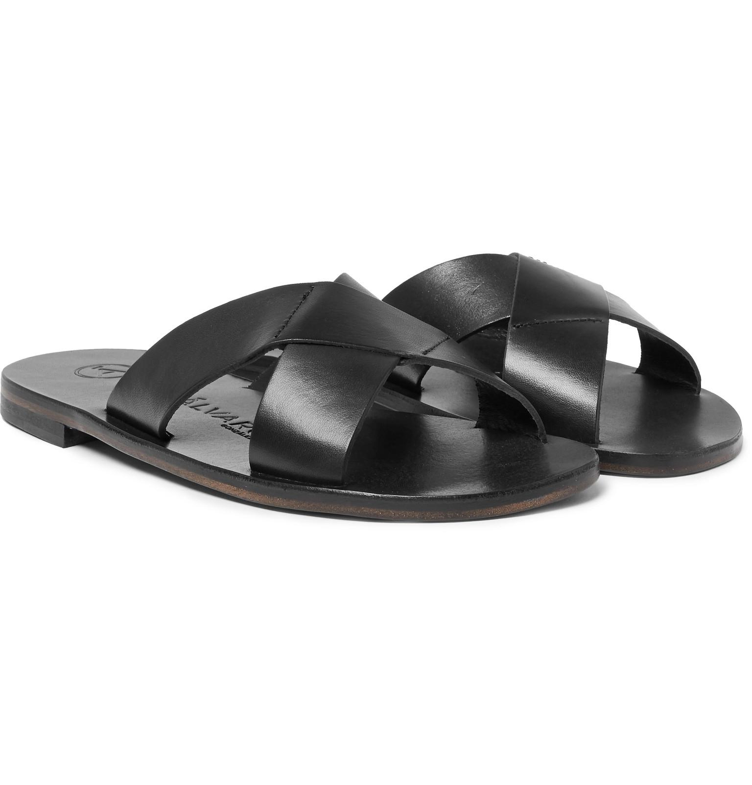 outlet factory outlet Álvaro Antonio Leather Slides cheap 2015 new Inexpensive sale online cheap sale footlocker pictures 93UCj