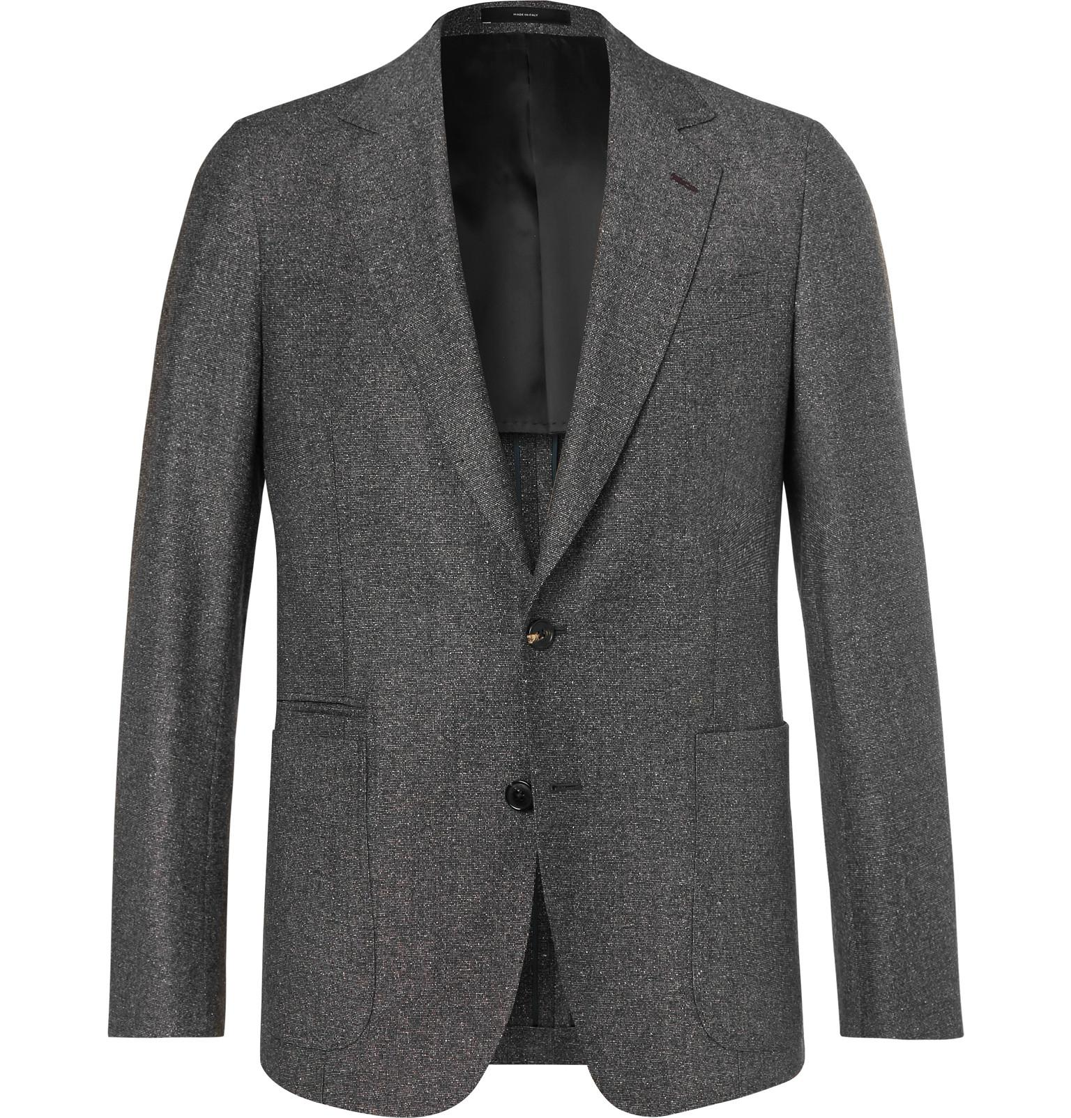 Paul Smith Dark-grey Soho Slim-fit Mélange Wool And Silk-blend Suit ... 18f8d96d447ac