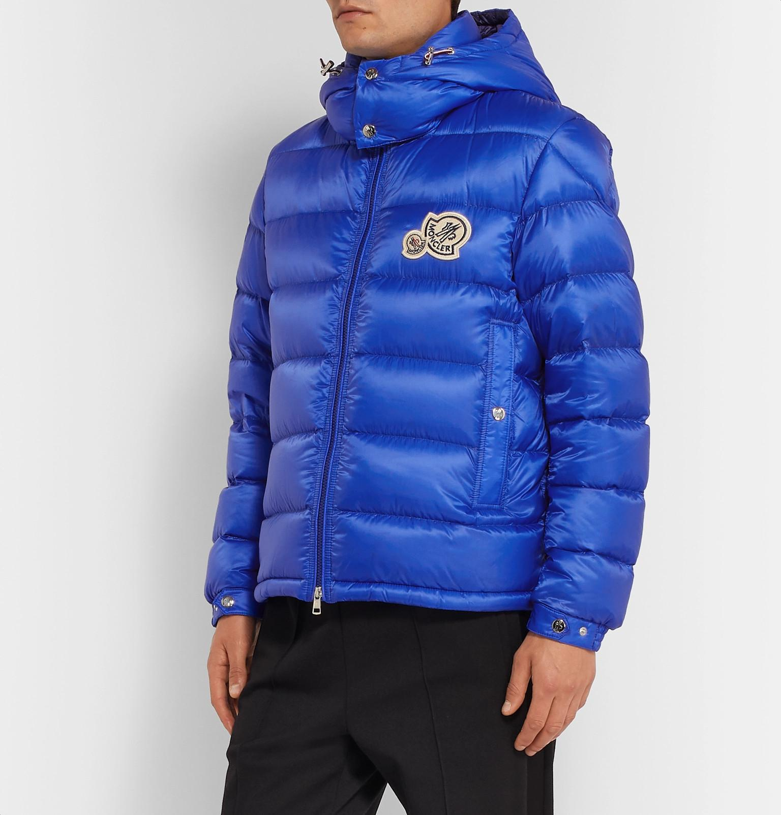 e17007f22 Moncler Bramant Quilted Shell Hooded Down Jacket in Blue for Men - Lyst
