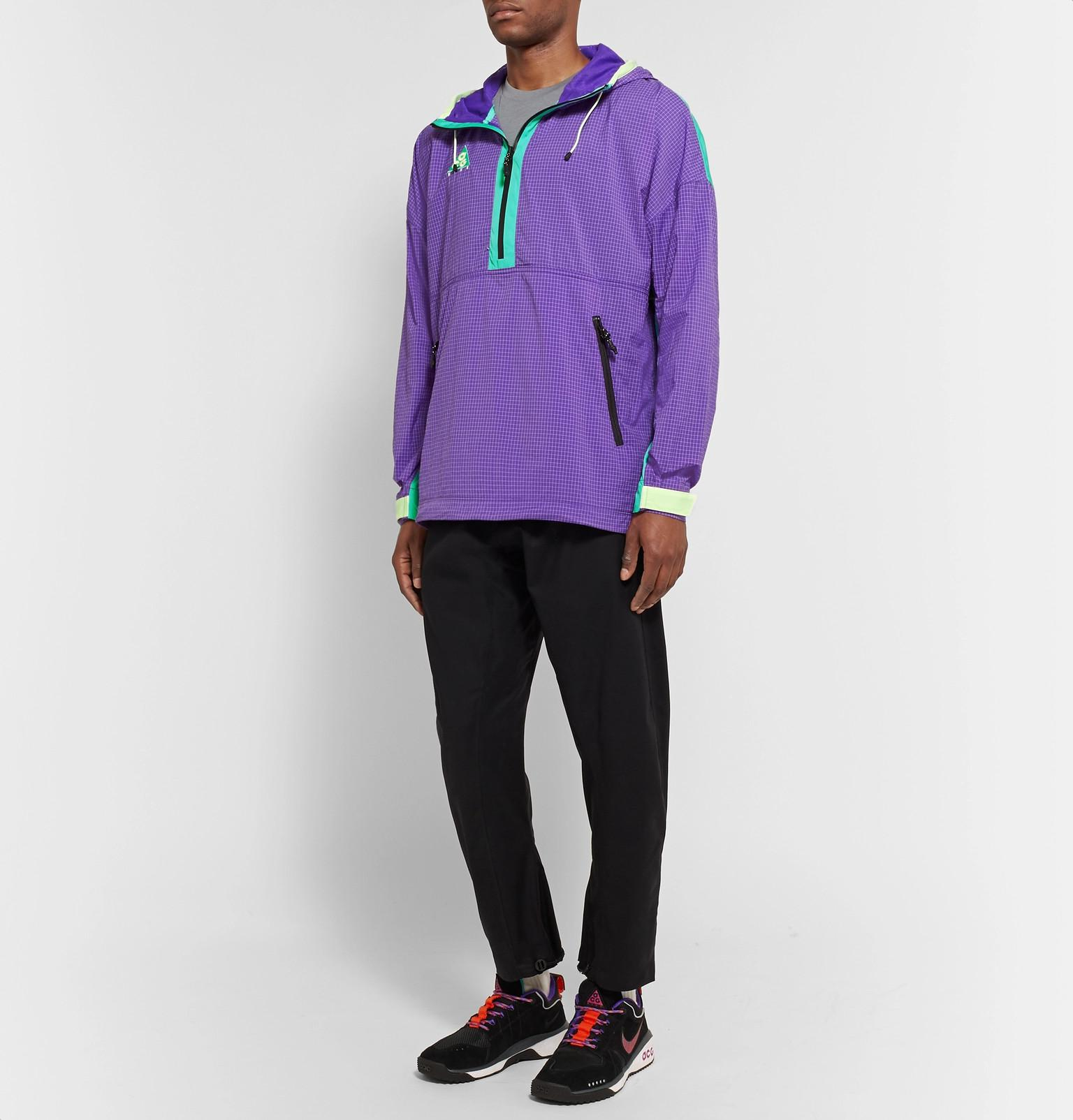 9f0234f5f09b Nike Acg Colour-block Nylon-blend Ripstop And Shell Hooded Jacket in ...