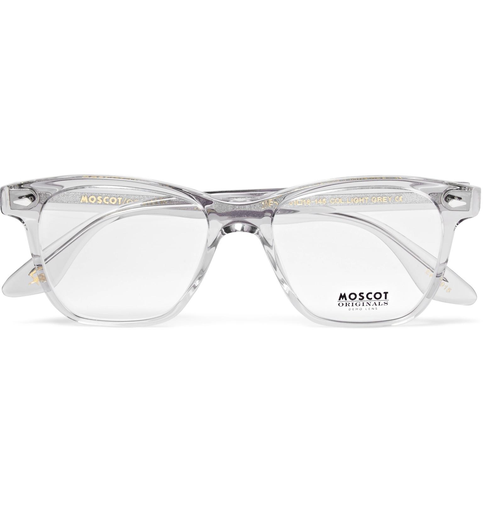 5b7ccc88a3 Moscot Zoftik Square-frame Acetate Optical Glasses in Gray for Men ...