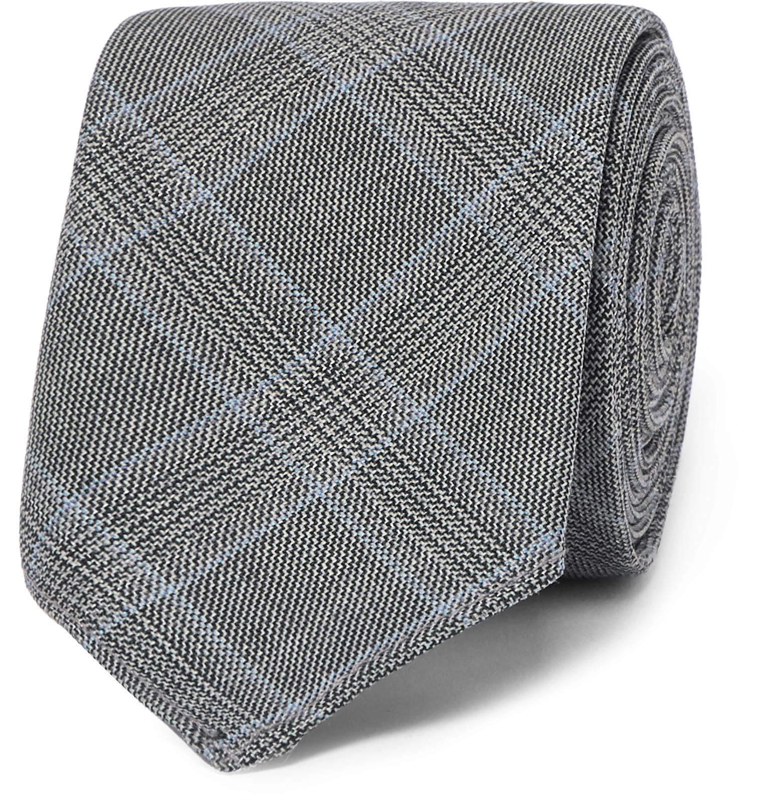6cm Prince De Galles Vérifié Cravate En Laine Vierge Hugo Boss tXvgp2u