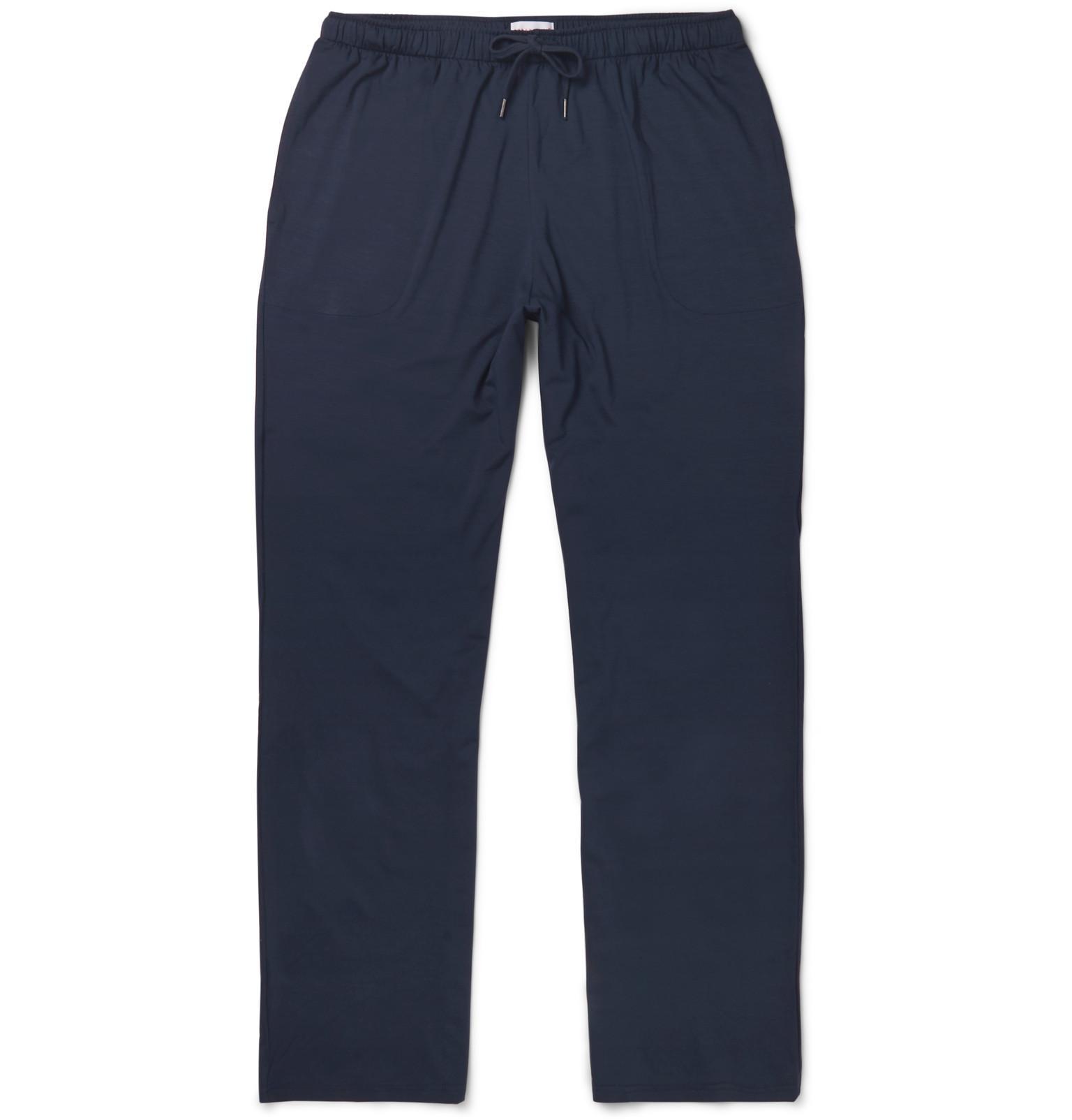Bâle Pantalon Extensible Longues En Jersey Micro Modal Derek Rose HmIRB