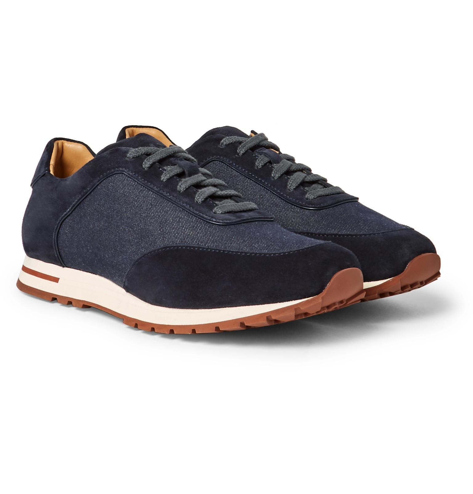 Mens Weekend Walk Suede Sneakers Loro Piana j5SO5kyBo