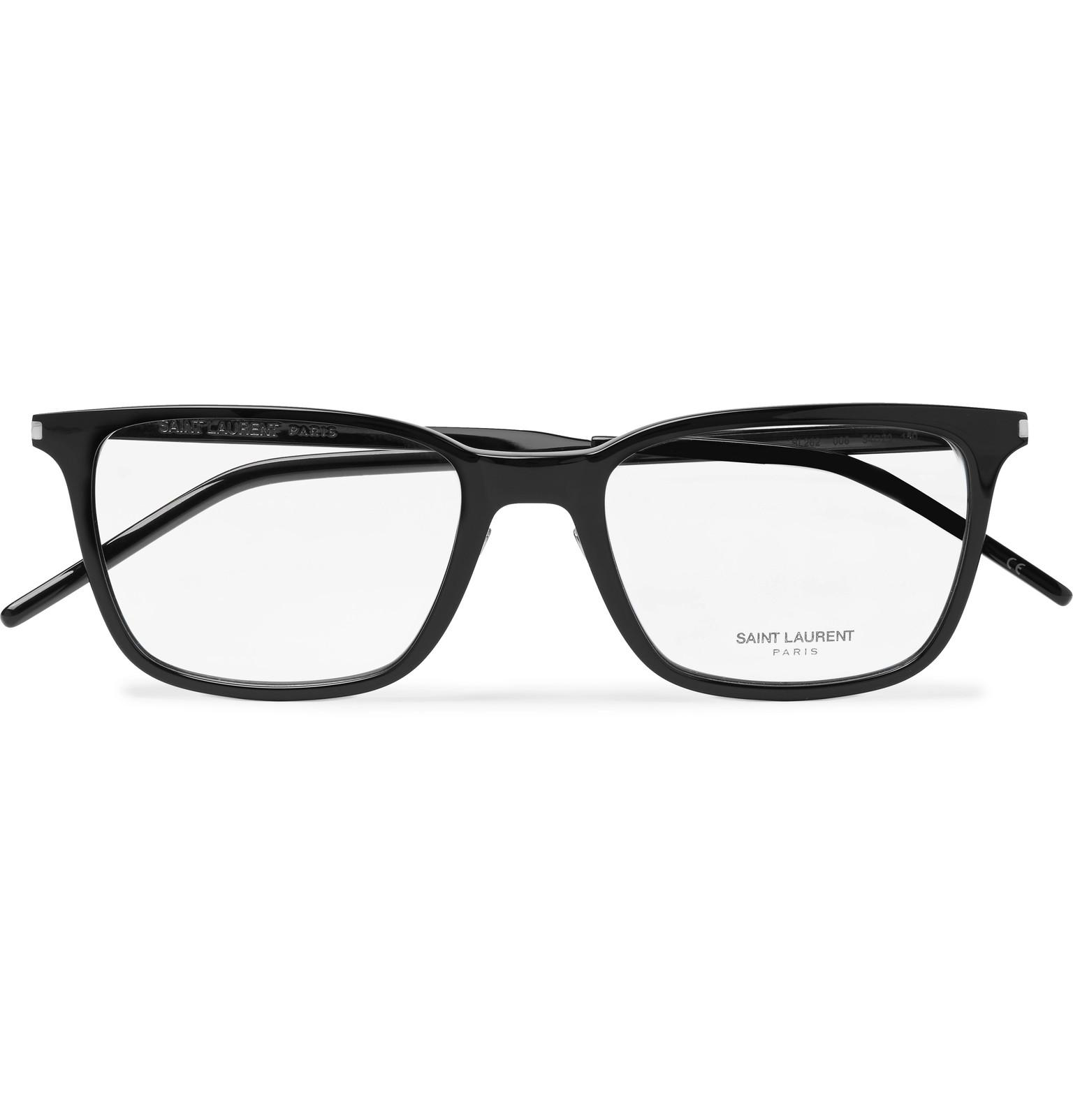 49bc2ac2cfa ... Black Square-frame Acetate And Silver-tone Optical Glasses for Men.  View fullscreen