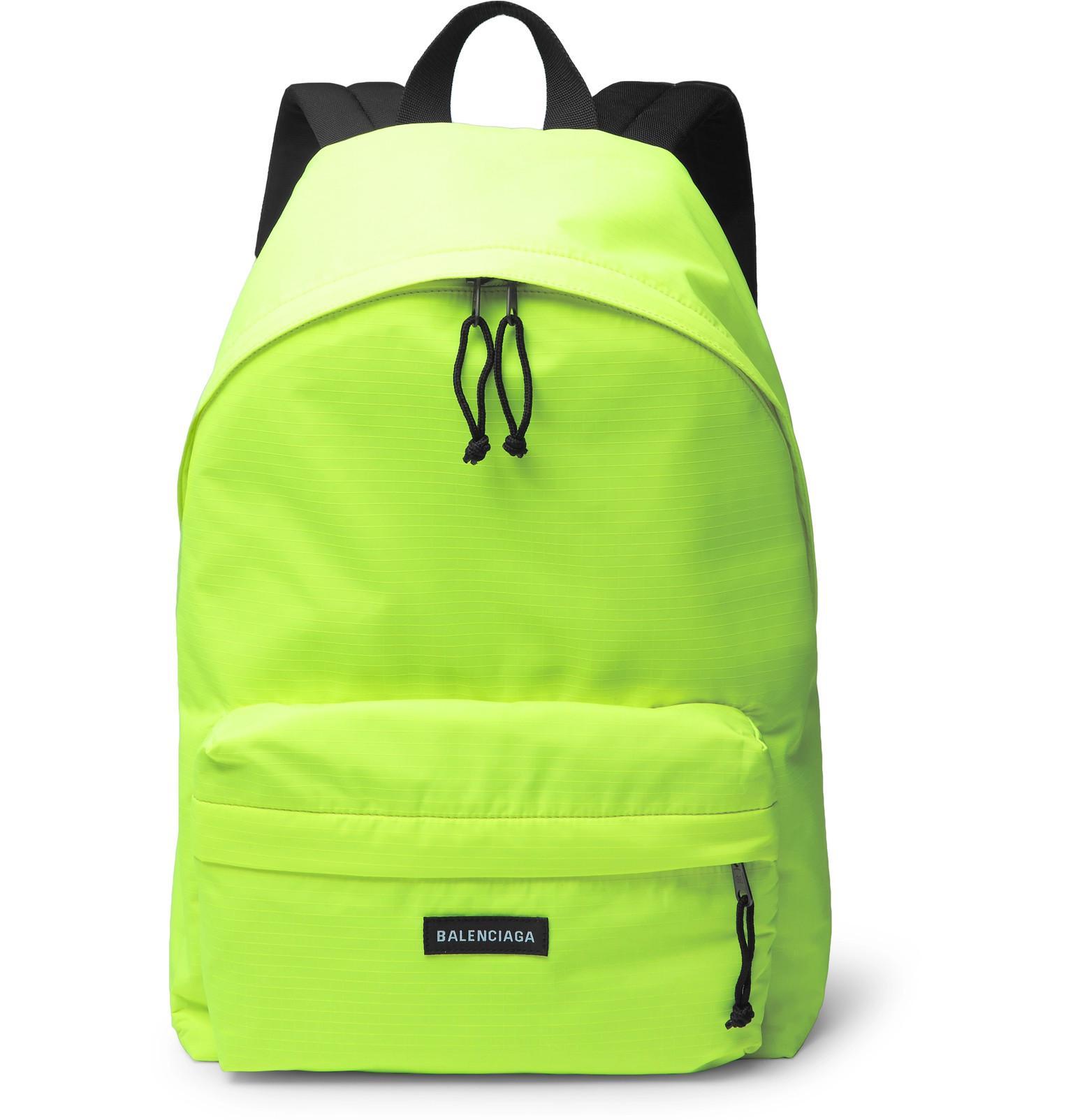 Balenciaga - Yellow Explorer Neon Ripstop Backpack for Men - Lyst. View  fullscreen 053ea383288e0