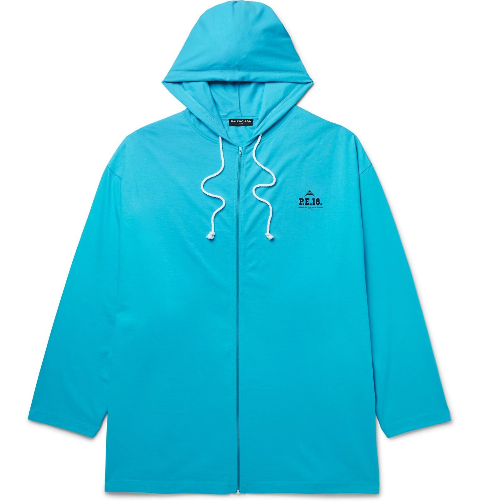 Oversized Cotton-jersey Zip-up Hoodie Balenciaga Eastbay Sale Online xDu9V8ahB