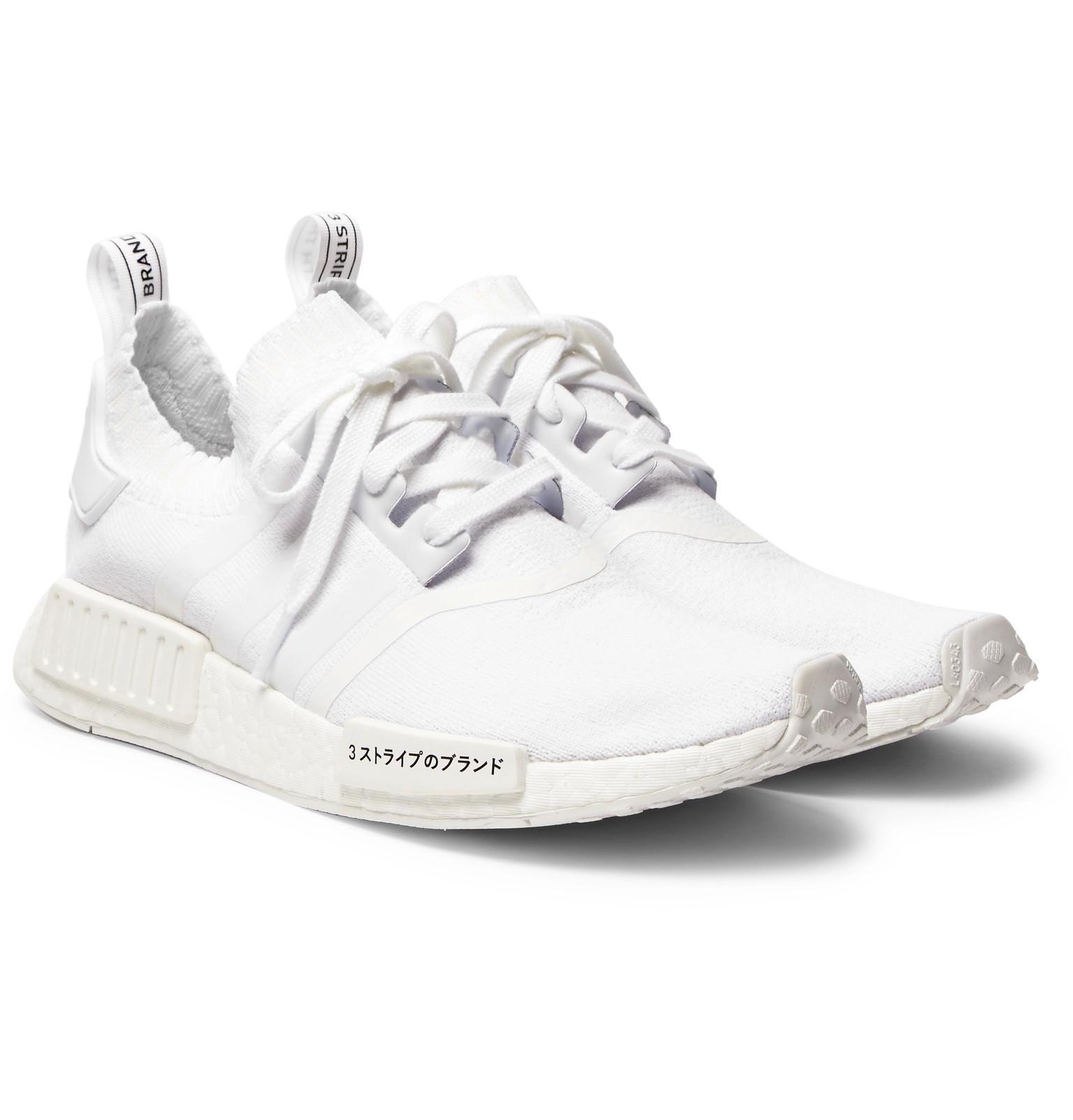 62b08c178 ... czech lyst adidas originals nmd r1 primeknit sneakers in white for men  9e3e4 fdca9
