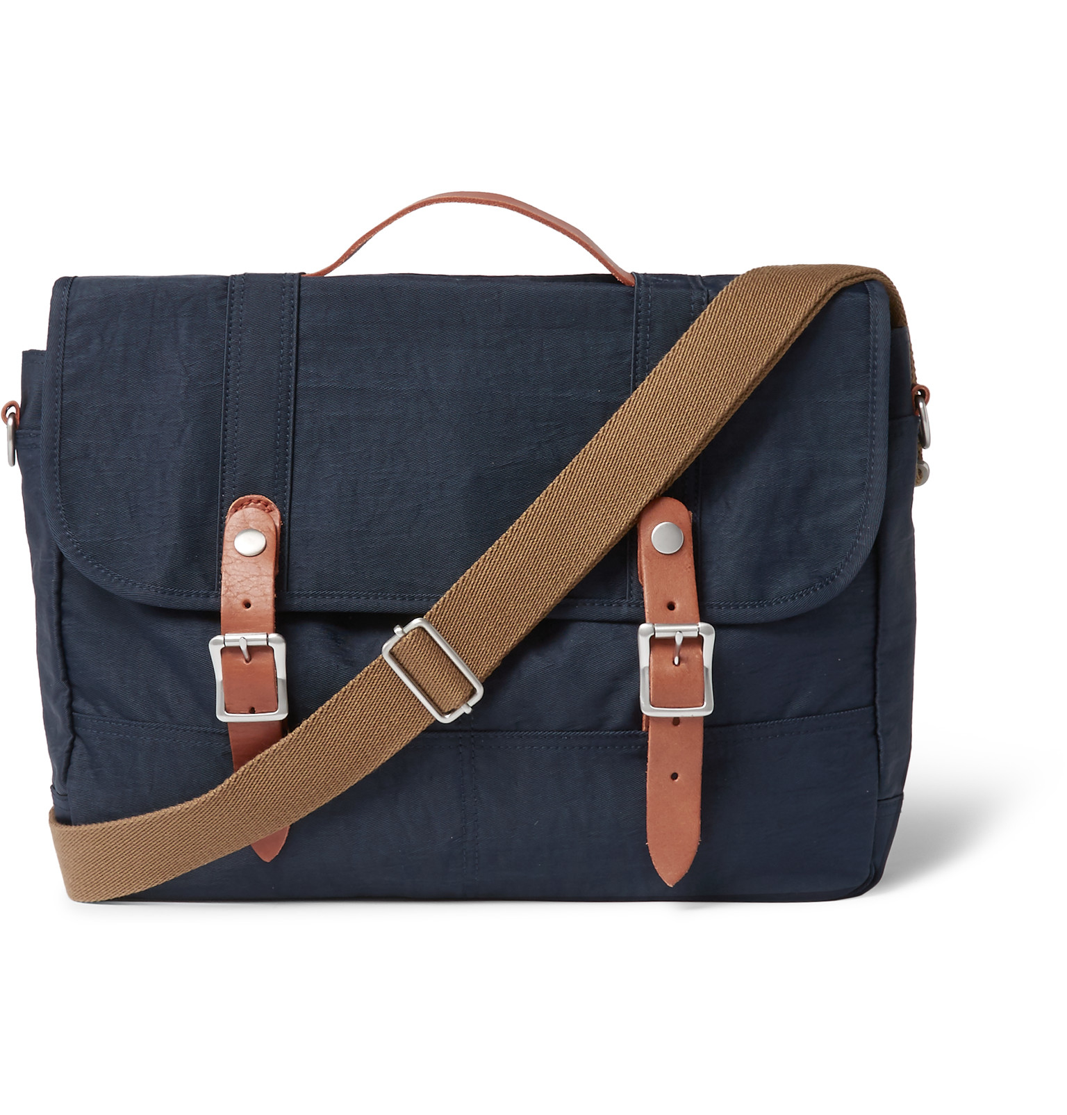 1343b75e49 J.Crew Harwick Leather-trimmed Canvas Messenger Bag in Blue for Men ...