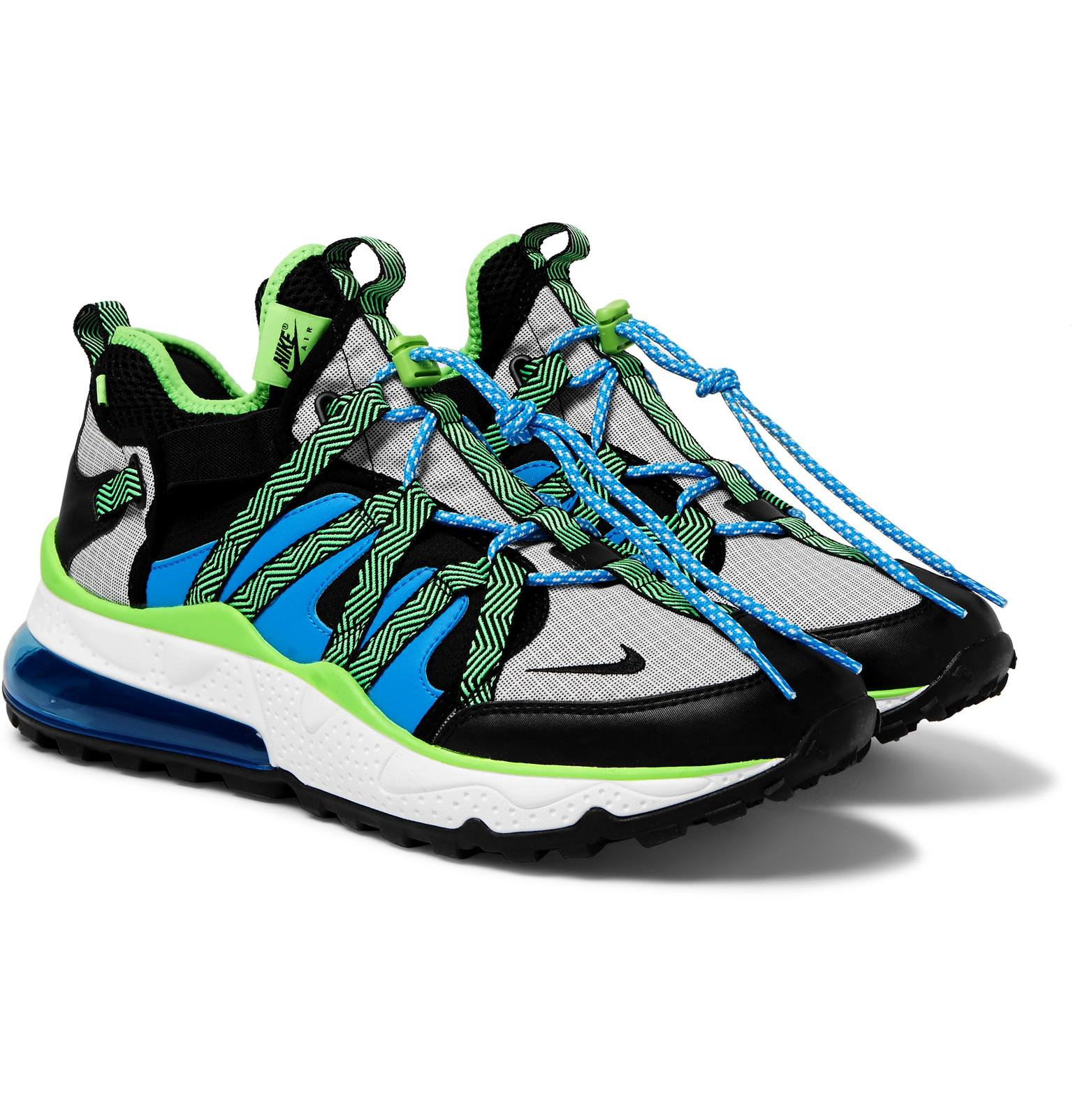 first rate 39dd5 5b84f Nike. Men s Blue Air Max 270 Bowfin Mesh And Nylon Sneakers
