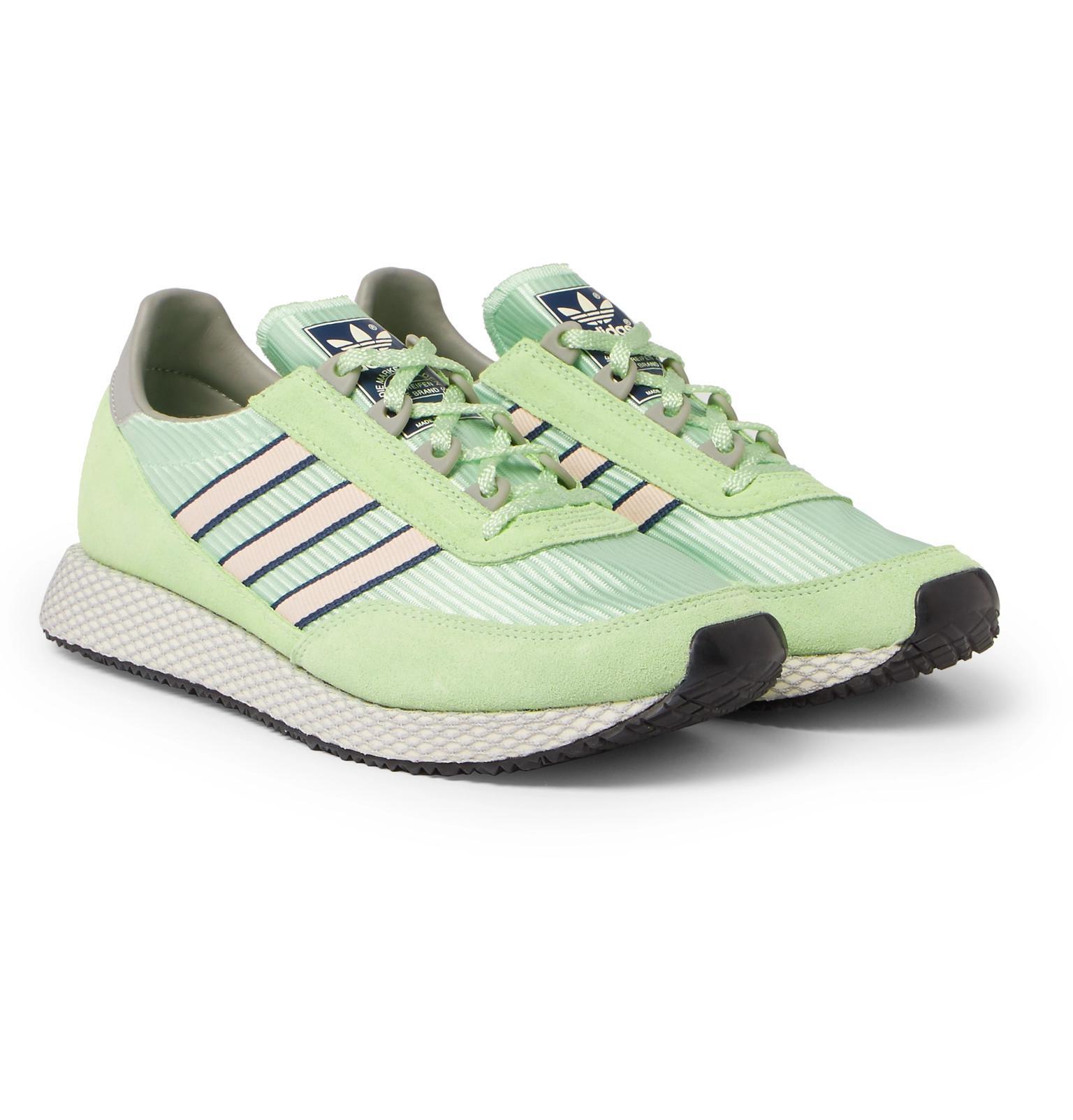 Adidas Originals Glenbuck spzl gamuza y nylon zapatillas en verde para