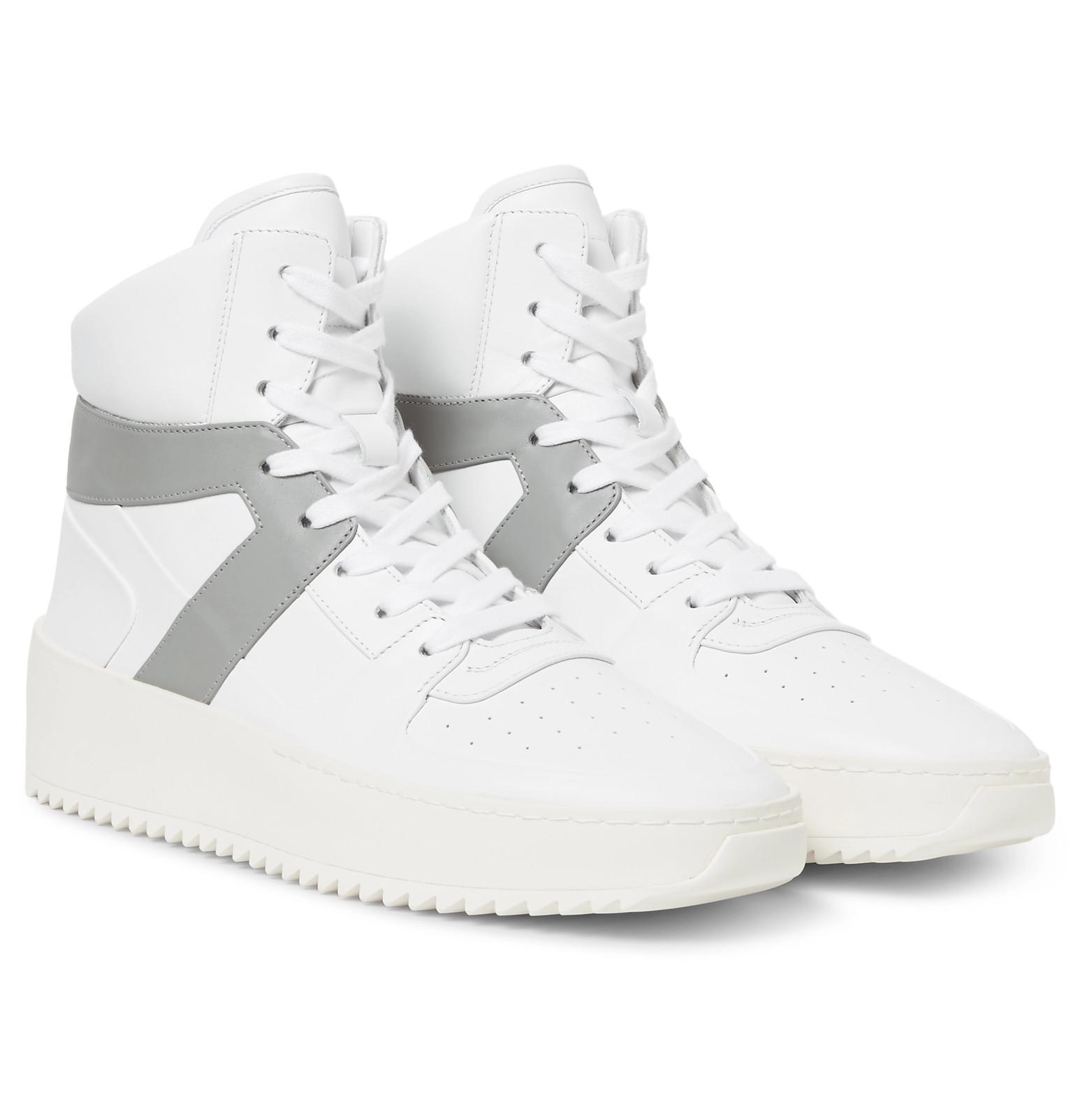 White and Grey Basketball High-Top Sneakers Fear of God xz3Nrs