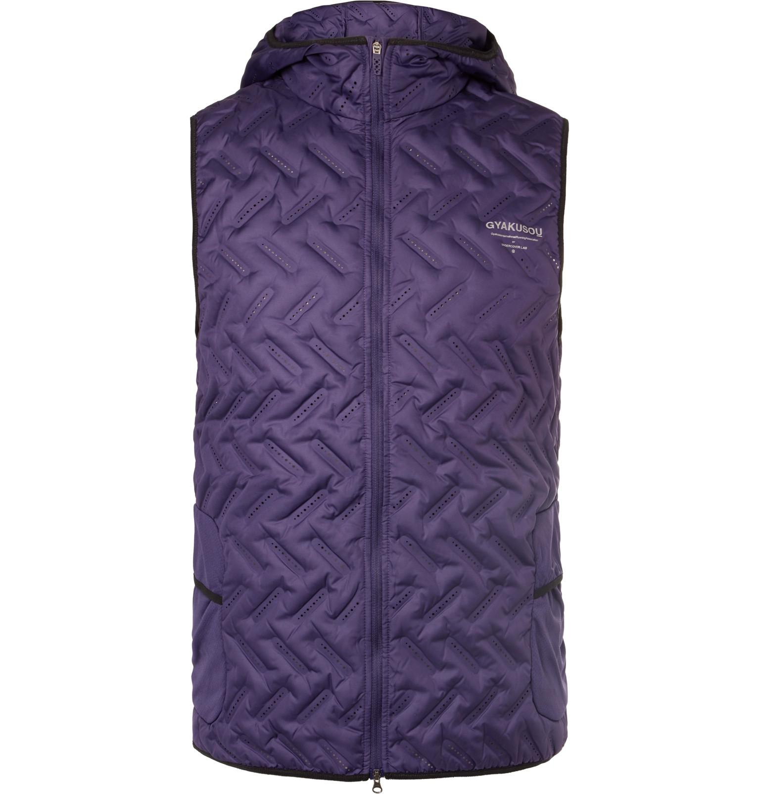 new concept 7a484 fdf83 Nike Nikelab Gyakusou Shell Down Gilet in Purple for Men - Lyst