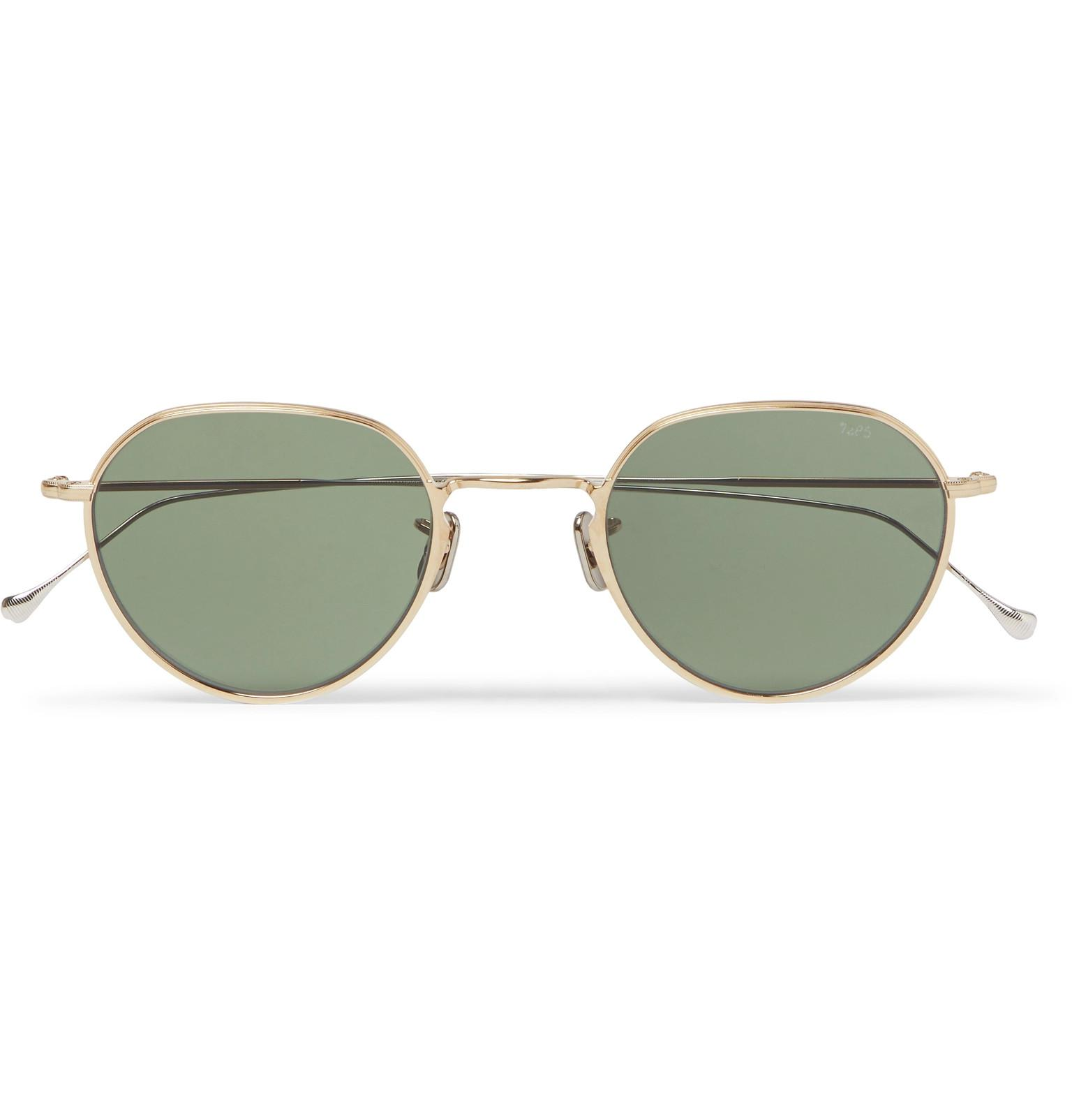 765 Round-frame Gold And Silver-tone Titanium Sunglasses Eyevan 7285 768cD