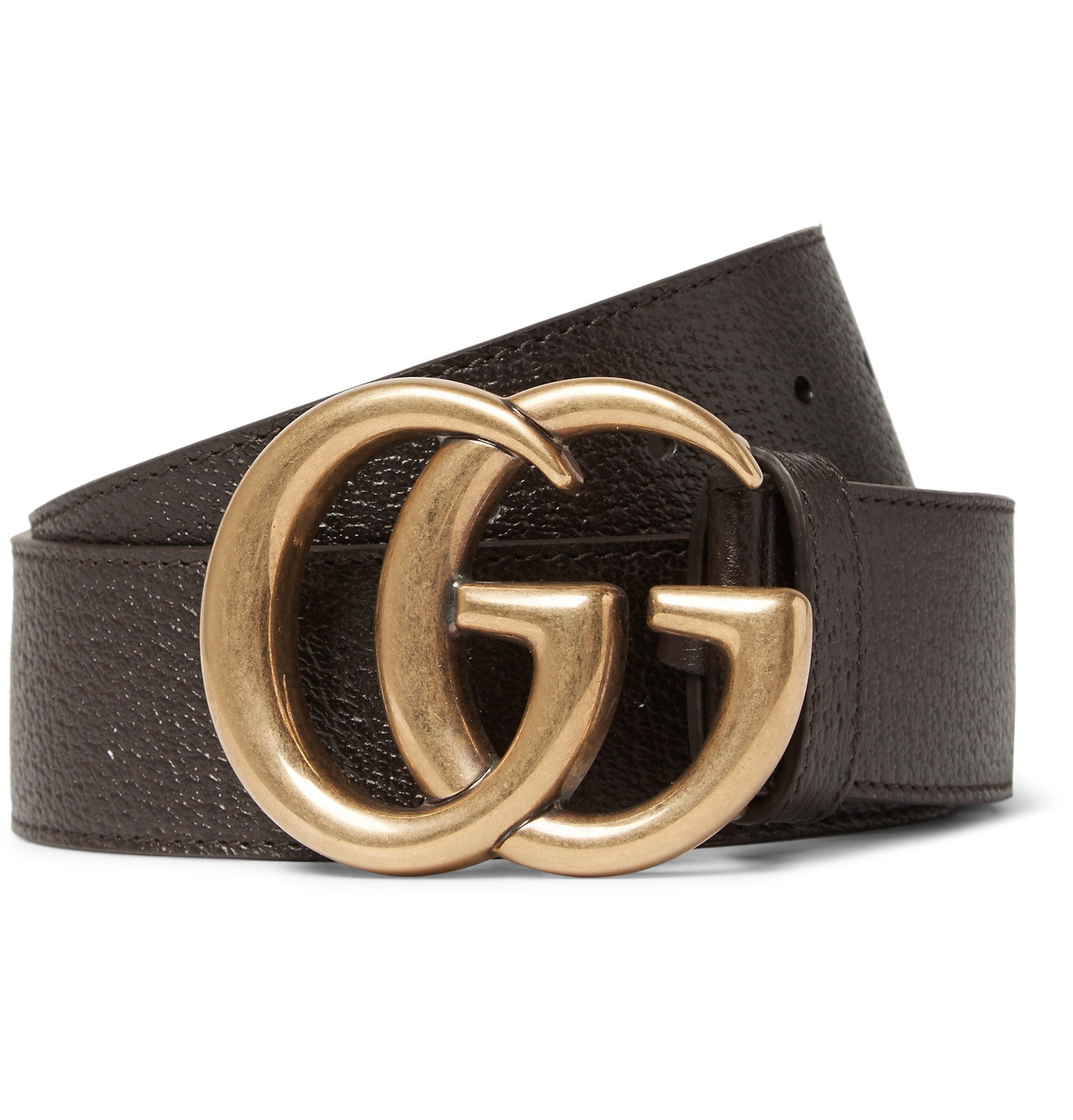gucci 4cm brown leather belt in brown for lyst