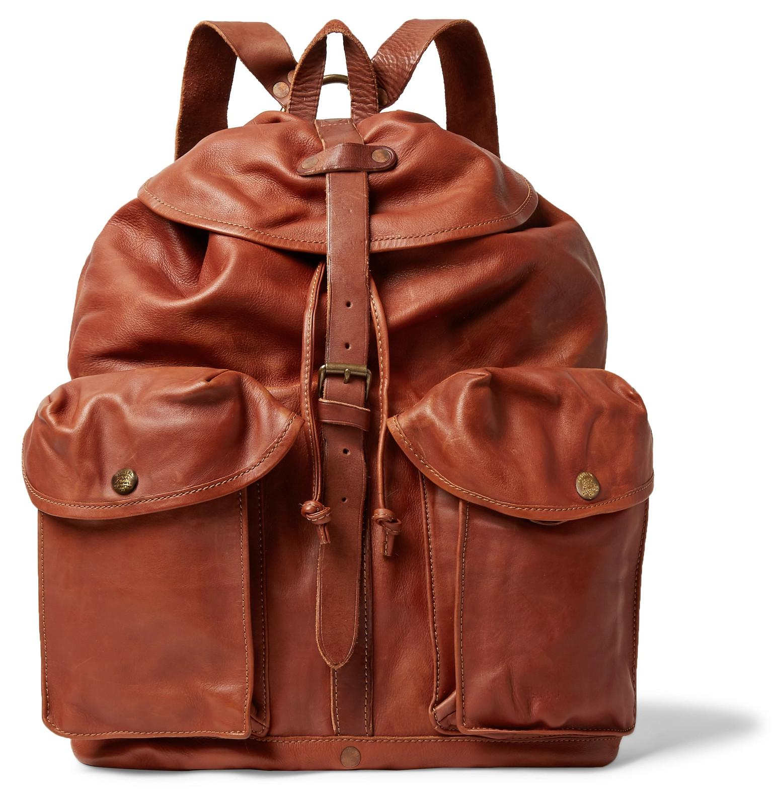 fbca9e5728b3 RRL Riley Leather Backpack in Brown for Men - Lyst
