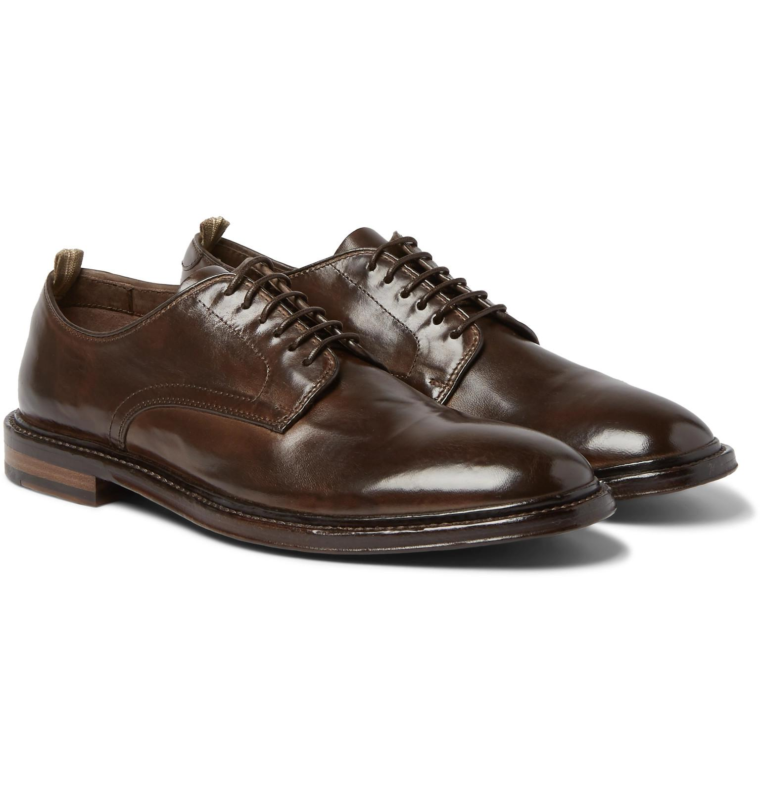 100% authentic online Officine Creative Anatomia Cap-Toe Polished-Leather Derby Shoes discount view 1V9yPXiX4