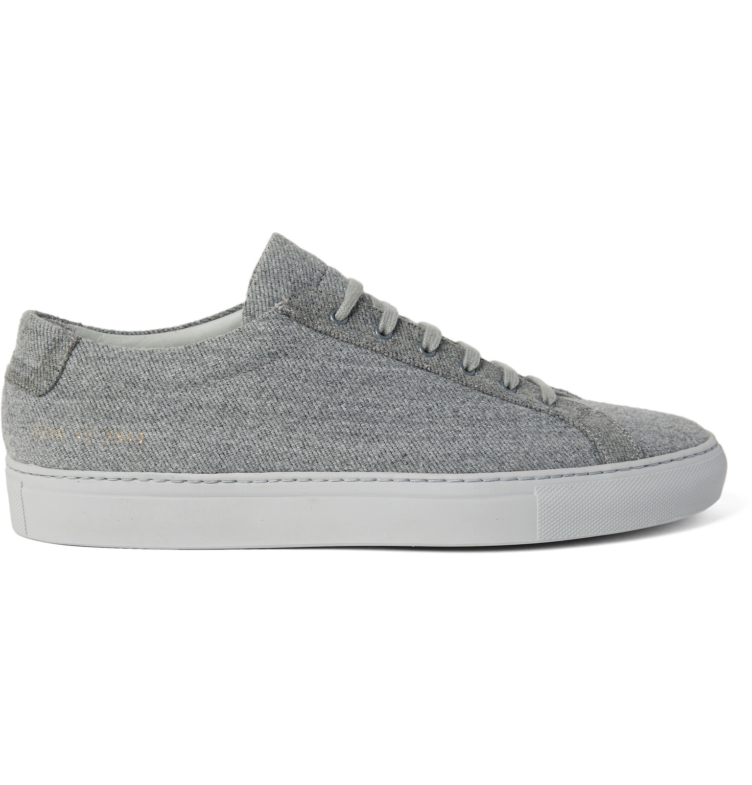 common projects achilles wool twill trainers in multicolour for men gray lyst. Black Bedroom Furniture Sets. Home Design Ideas