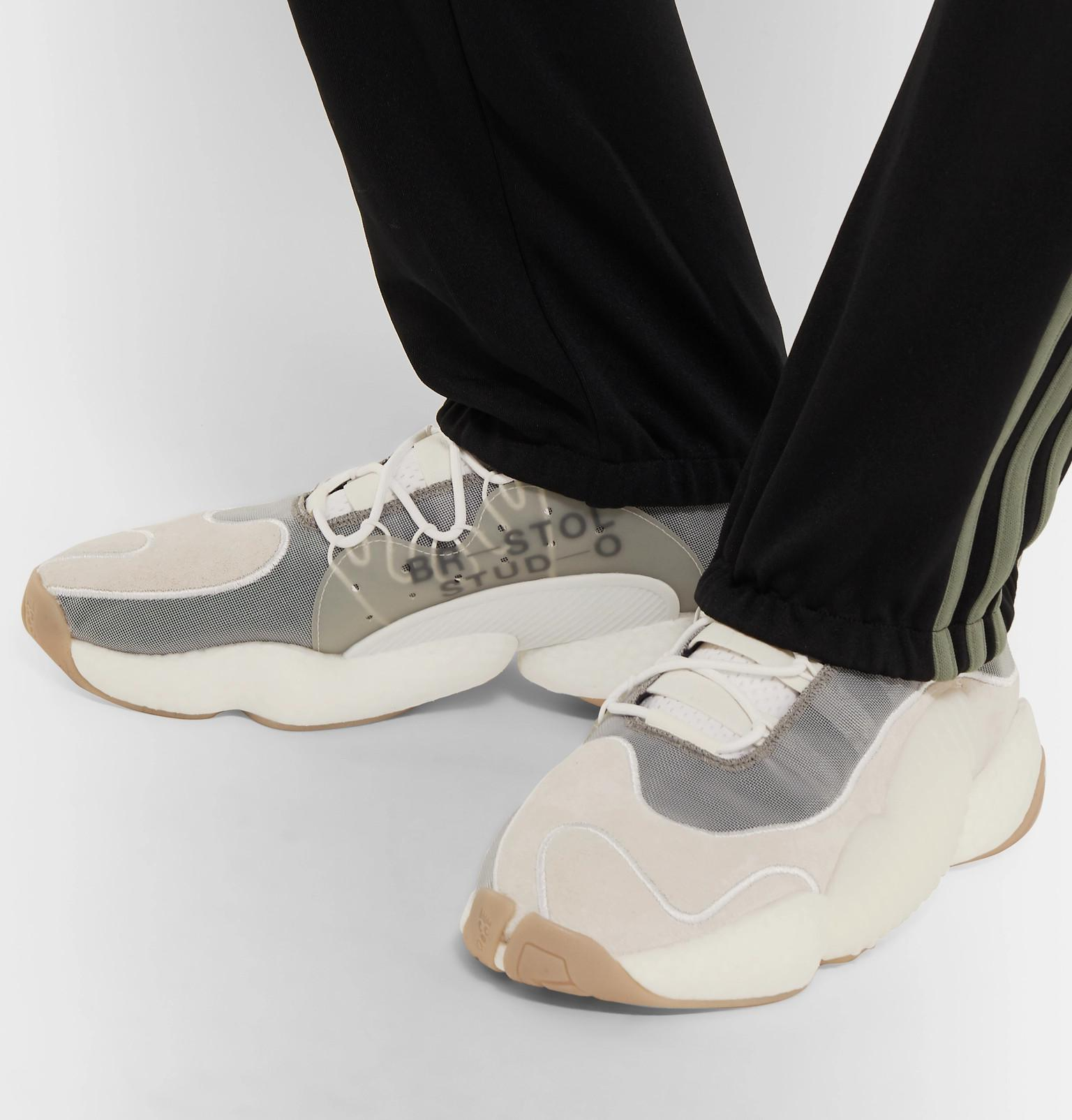 sports shoes e7a7f 8ad31 Adidas Originals - White + Bristol Studio Crazy Byw Lvl Ii Suede And Mesh  Sneakers for. View fullscreen