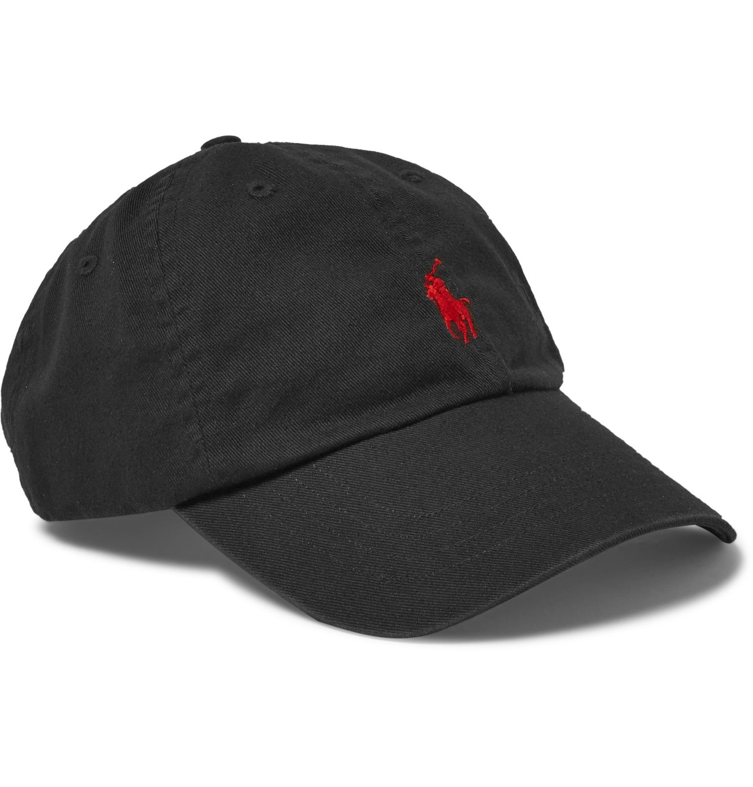 polo ralph lauren cotton twill baseball cap in black for. Black Bedroom Furniture Sets. Home Design Ideas