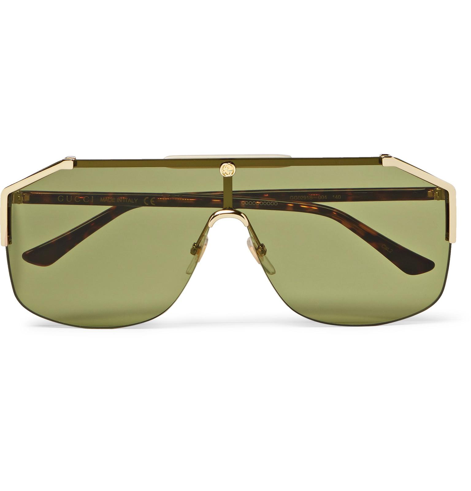 a7f02c8a7d4 Gucci Endura Oversized Aviator-style Gold-tone And Tortoiseshell ...