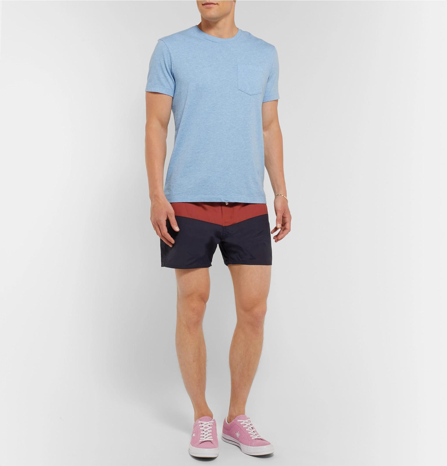 0ad38ec097 Saturdays NYC Ennis Short-length Colour-block Swim Shorts in Blue ...