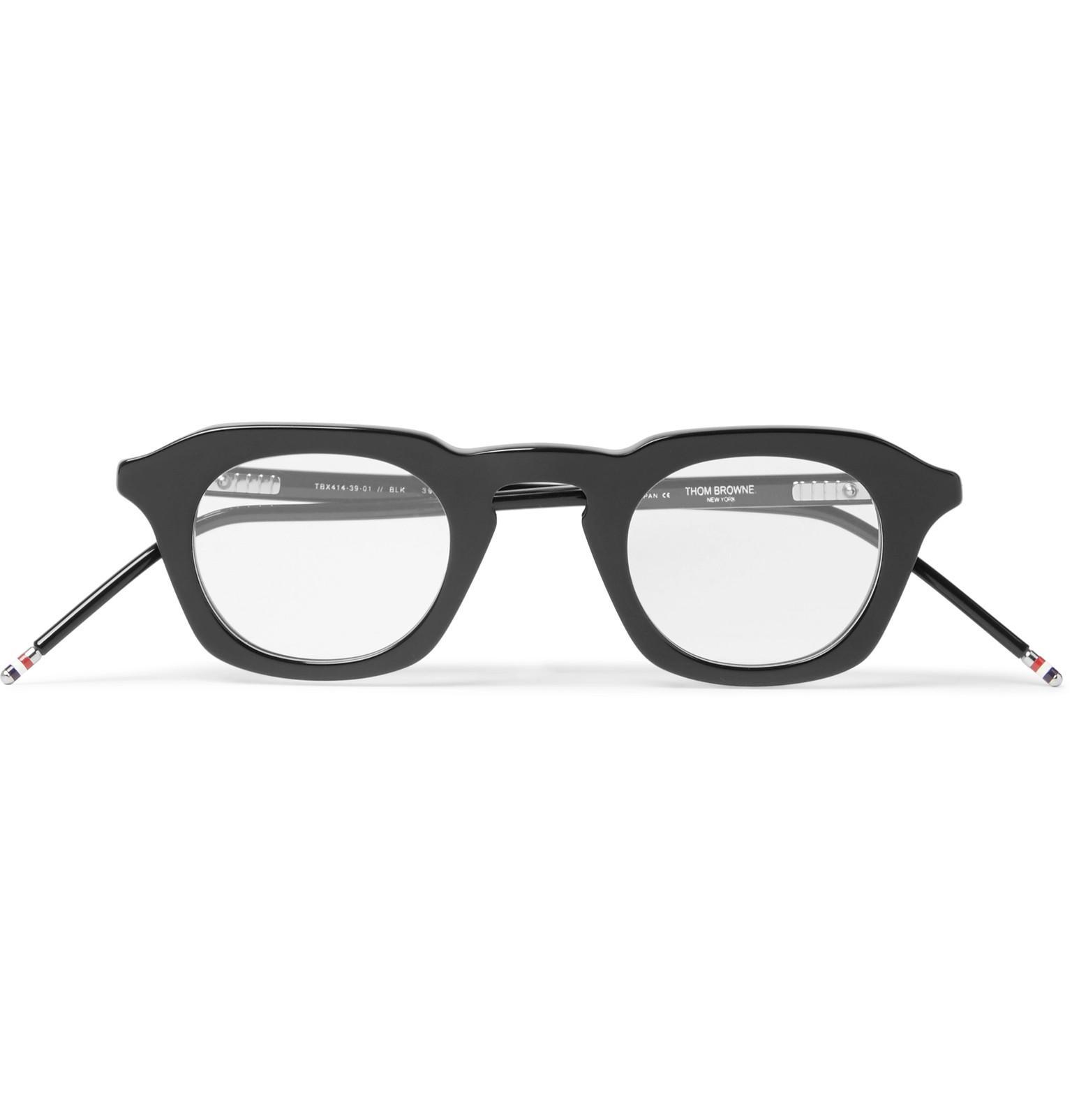 321d35fcdb46 Thom Browne 414 D-frame Acetate Optical Glasses in Black for Men - Lyst