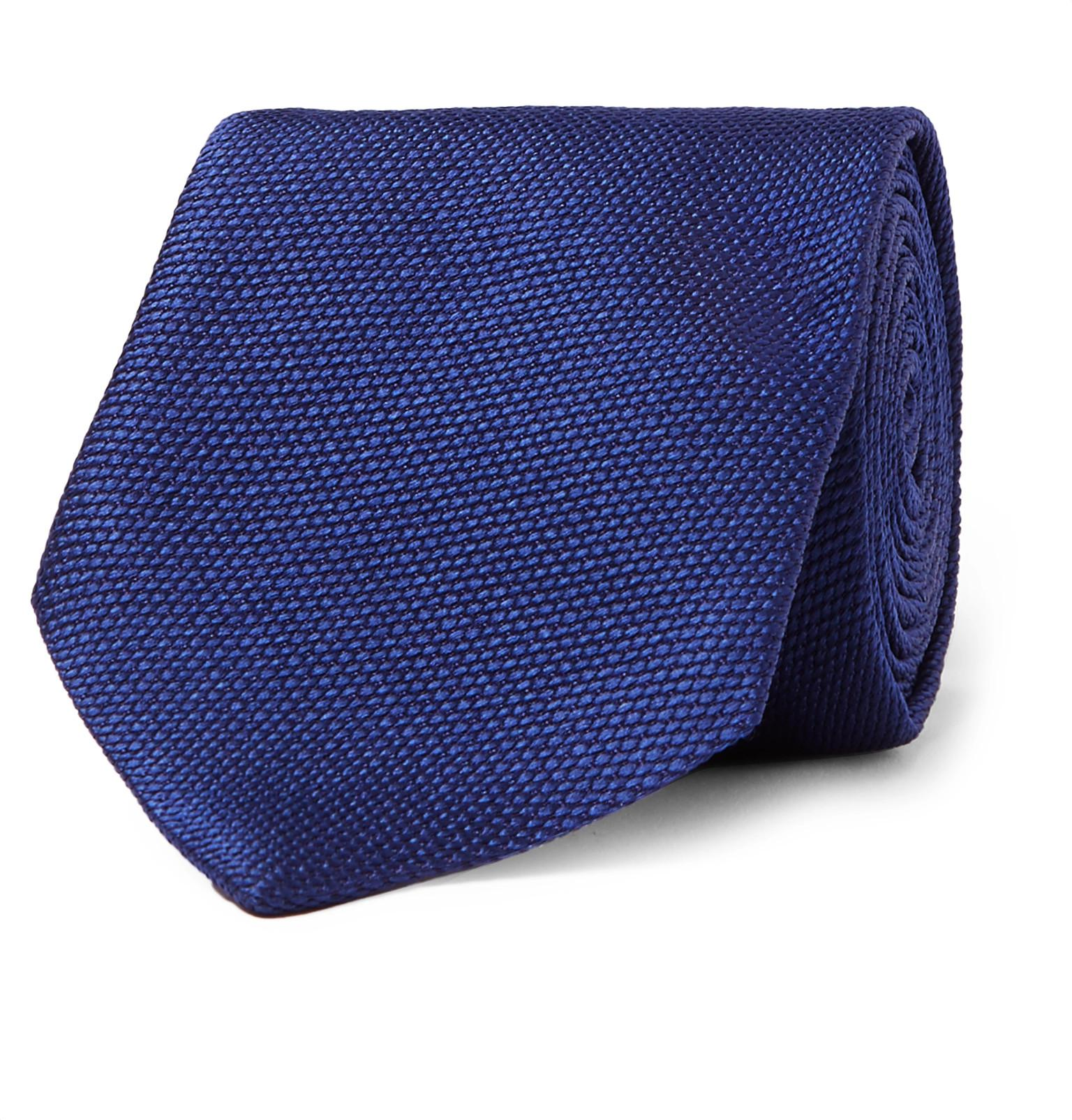 8cm Herringbone Linen And Mulberry Silk-blend Tie Dunhill VCJ0k