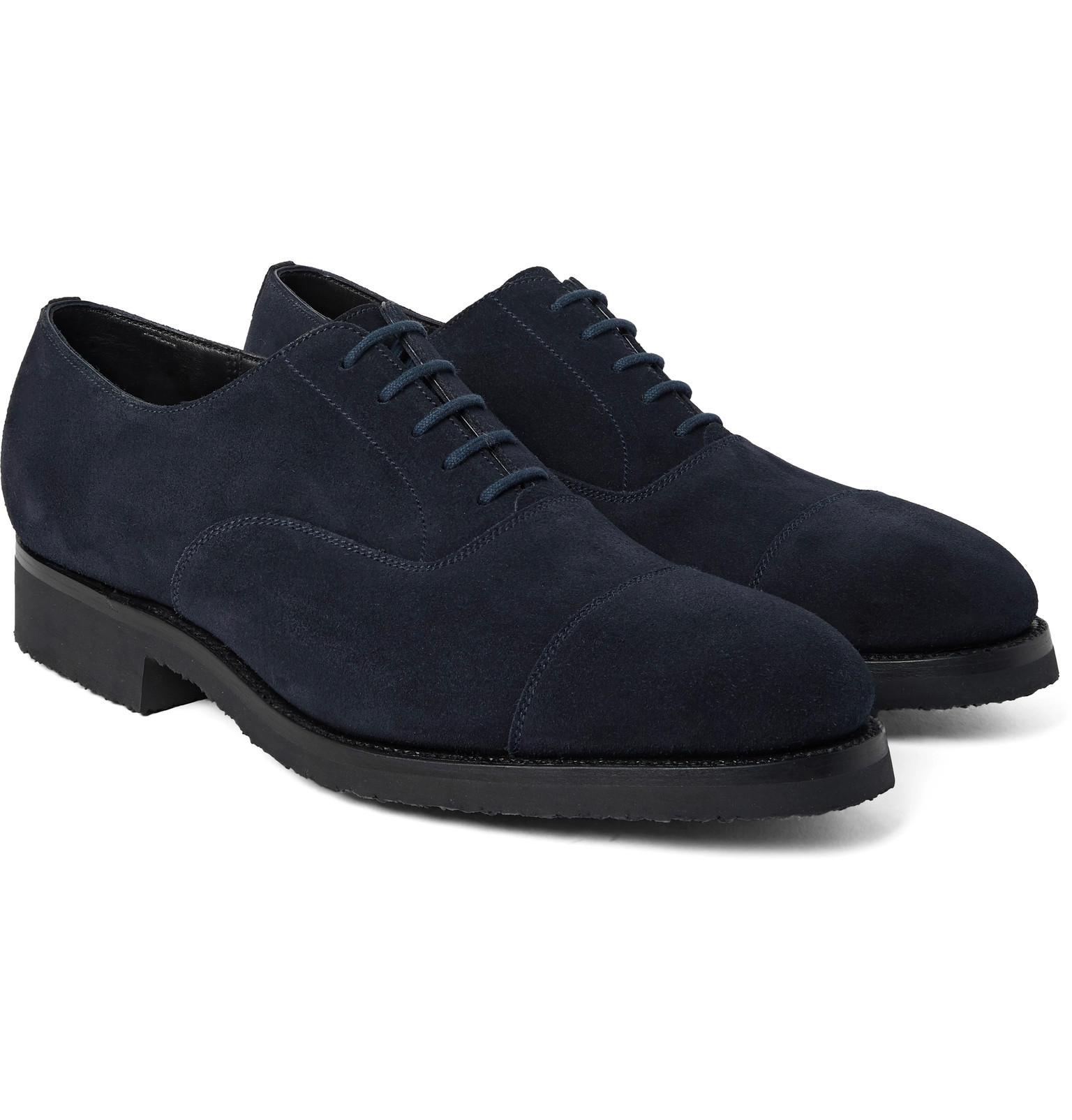 Mens Blue Suede Casual Shoes