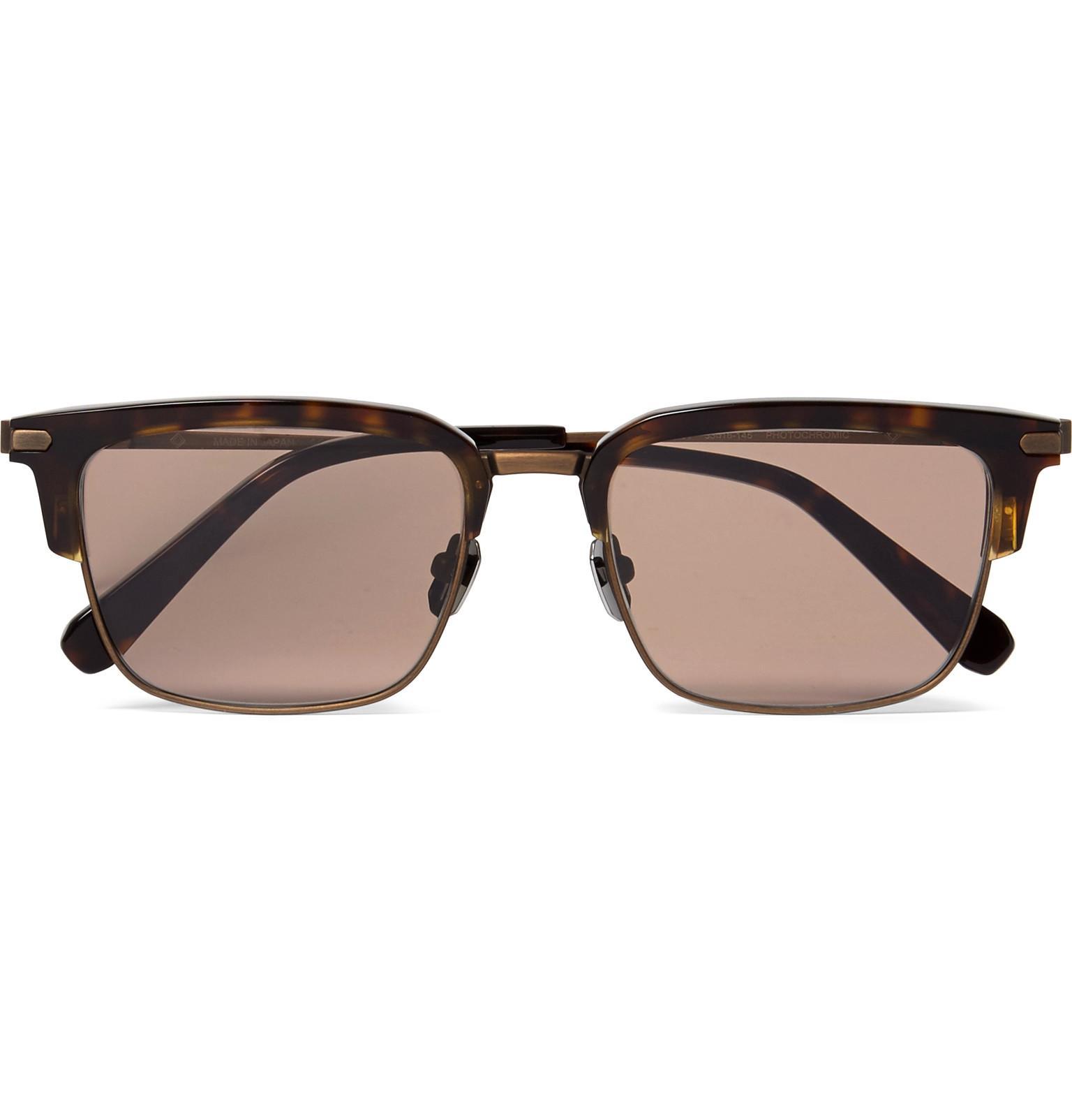 BRIONI D-frame Tortoiseshell Acetate And Gunmetal-tone Sunglasses - Tortoiseshell HEl9hMvZet