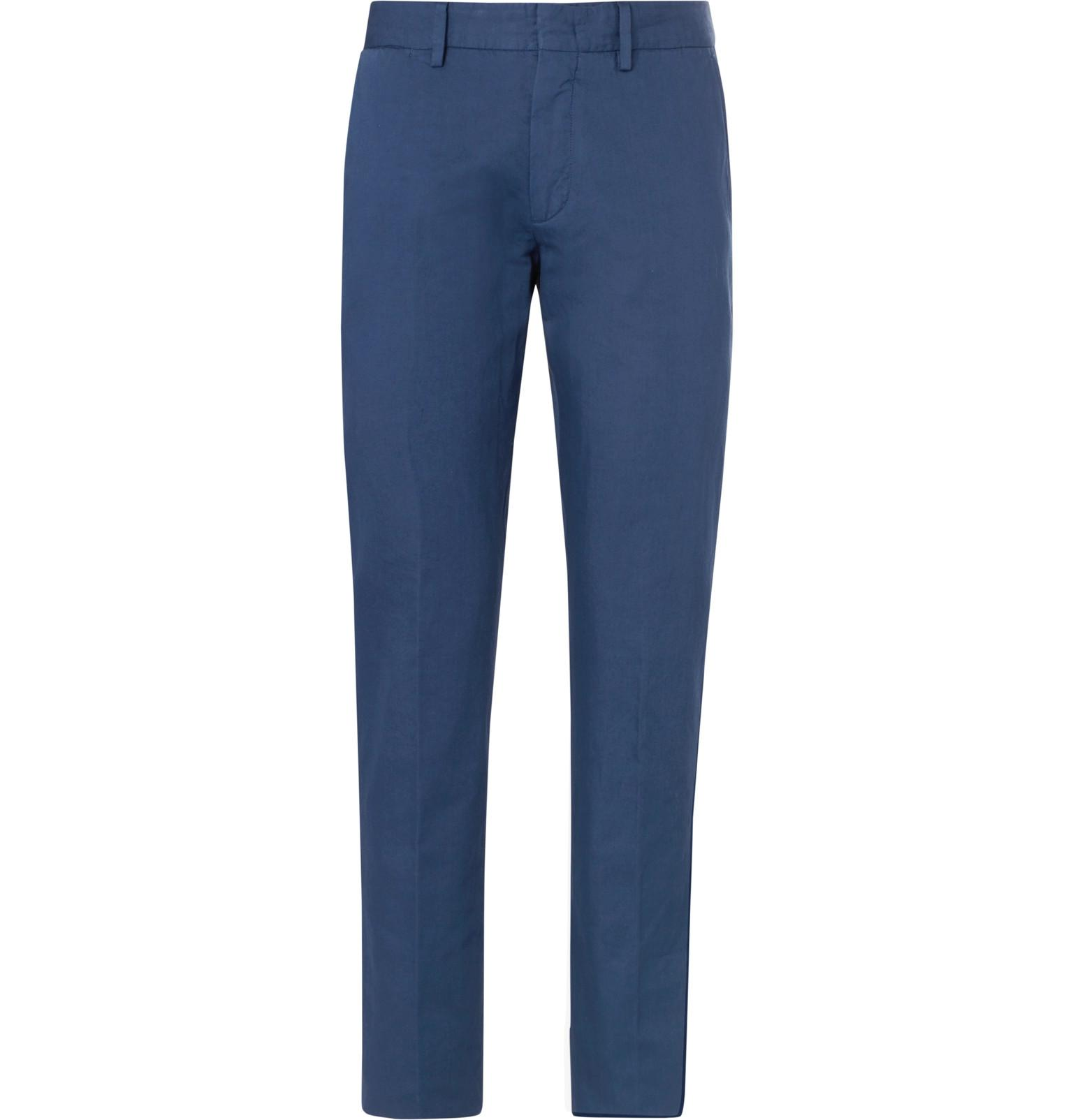 Slim-fit Cotton And Linen-blend Twill Trousers Ermenegildo Zegna Popular For Sale Clearance Finishline Footlocker Pictures Sale Online Discount Aaa LiPfa6vw