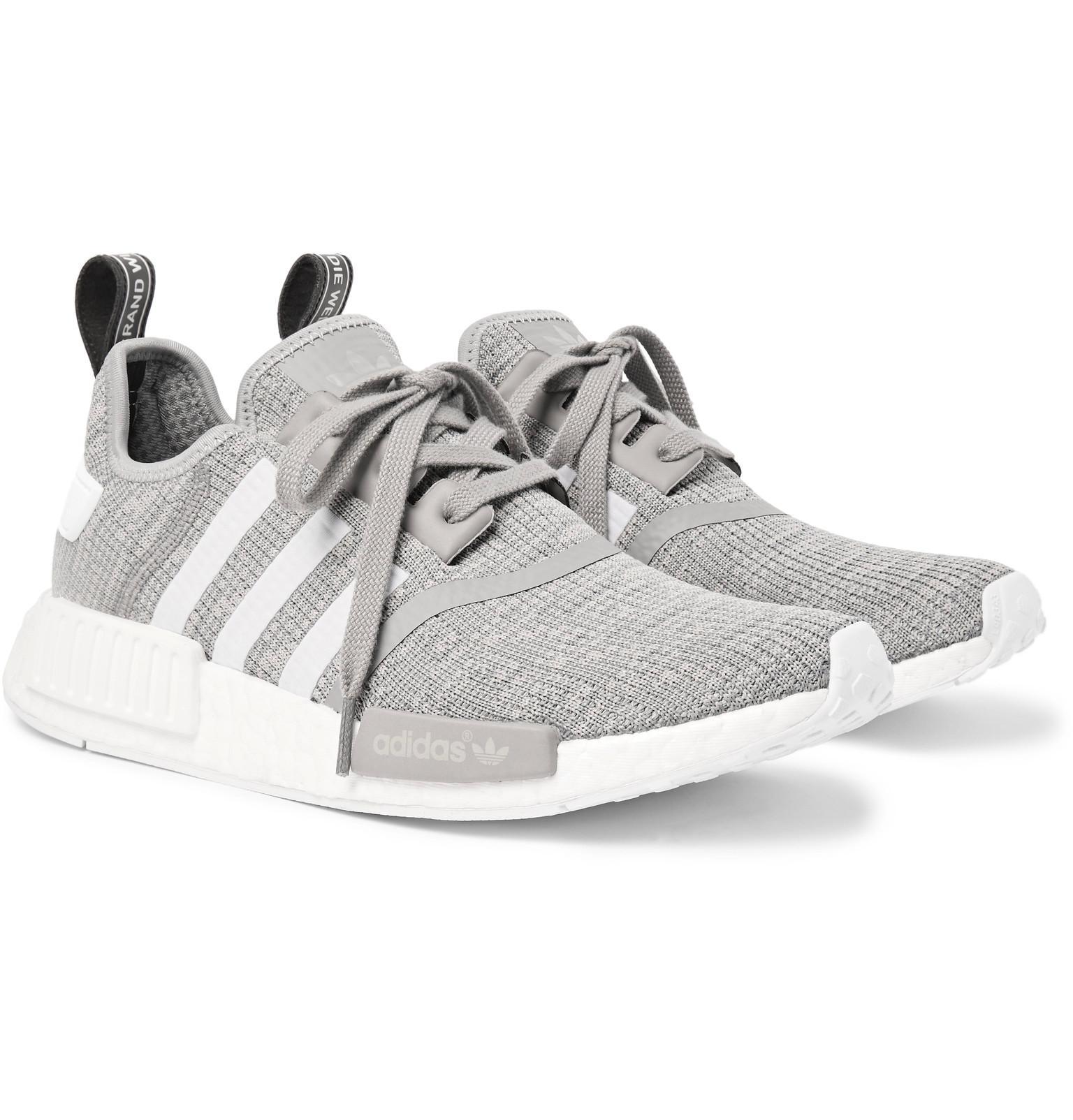 Lyst adidas originali nmd r1 gomma potato maglie scarpe in grigio.
