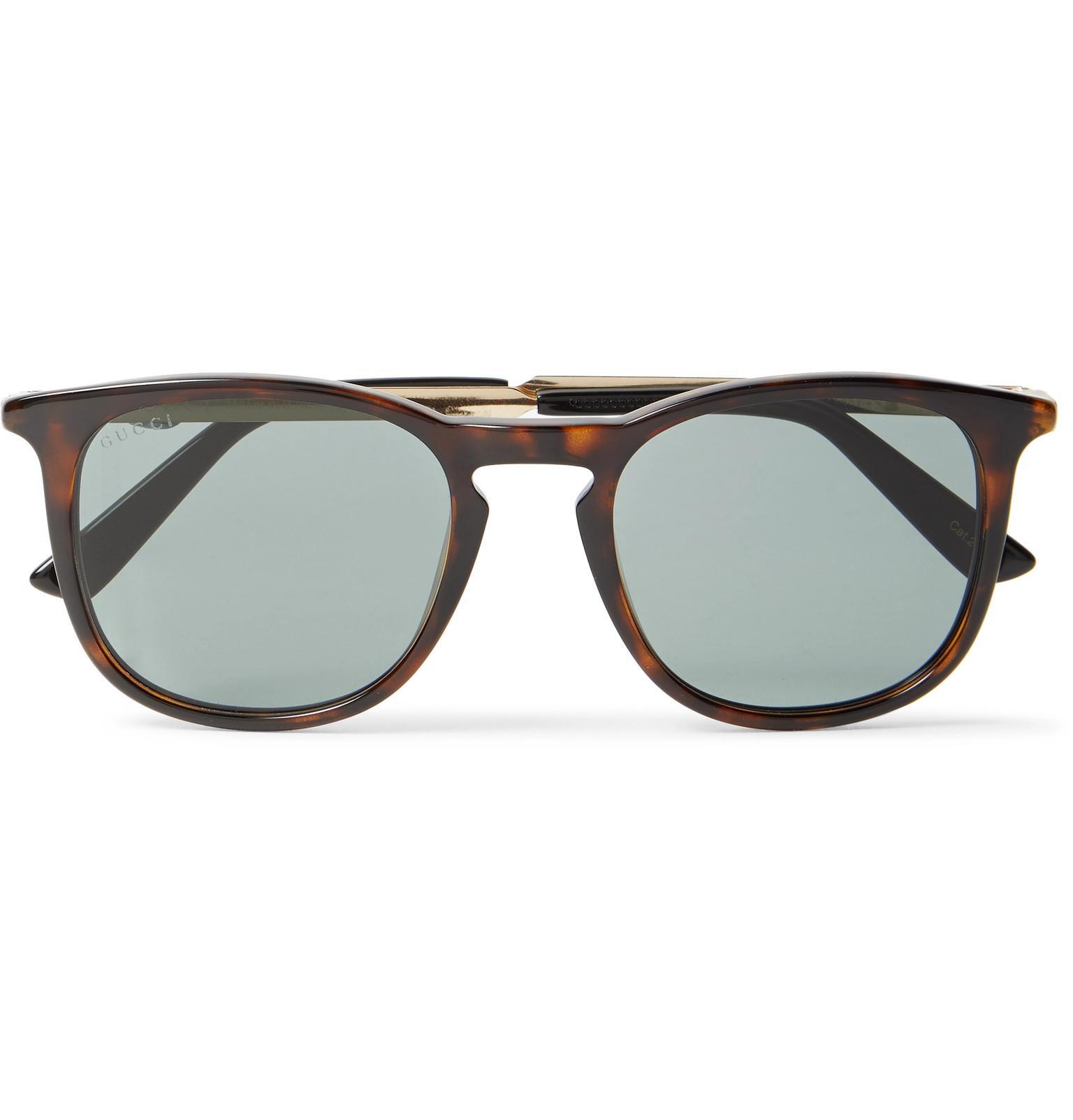 791c551fd10 Gucci. Men s Round-frame Tortoiseshell Acetate And Gold-tone Sunglasses