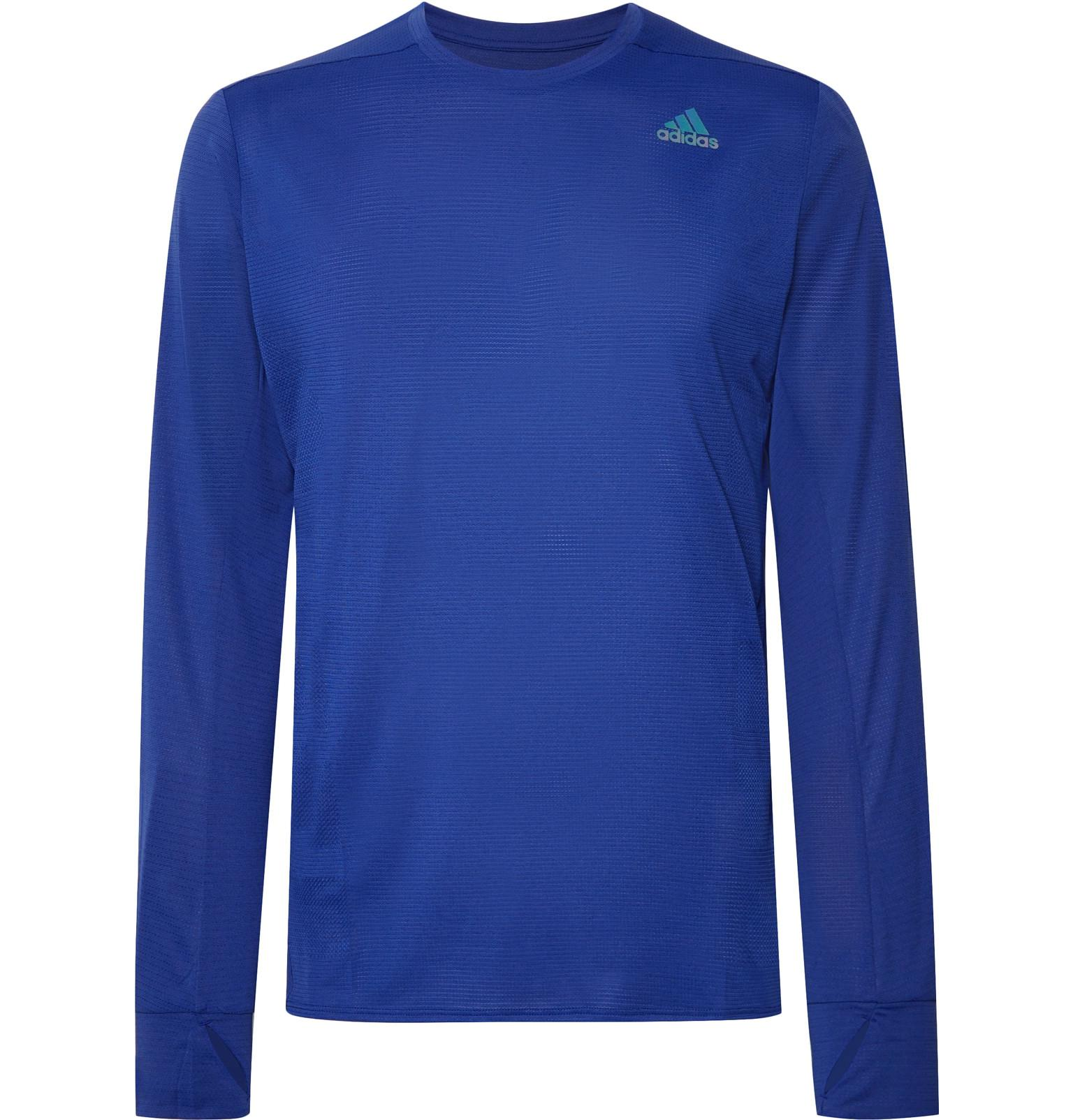 Lyst - Adidas Originals Supernova Climacool T-shirt in Blue for Men f2a2101f5