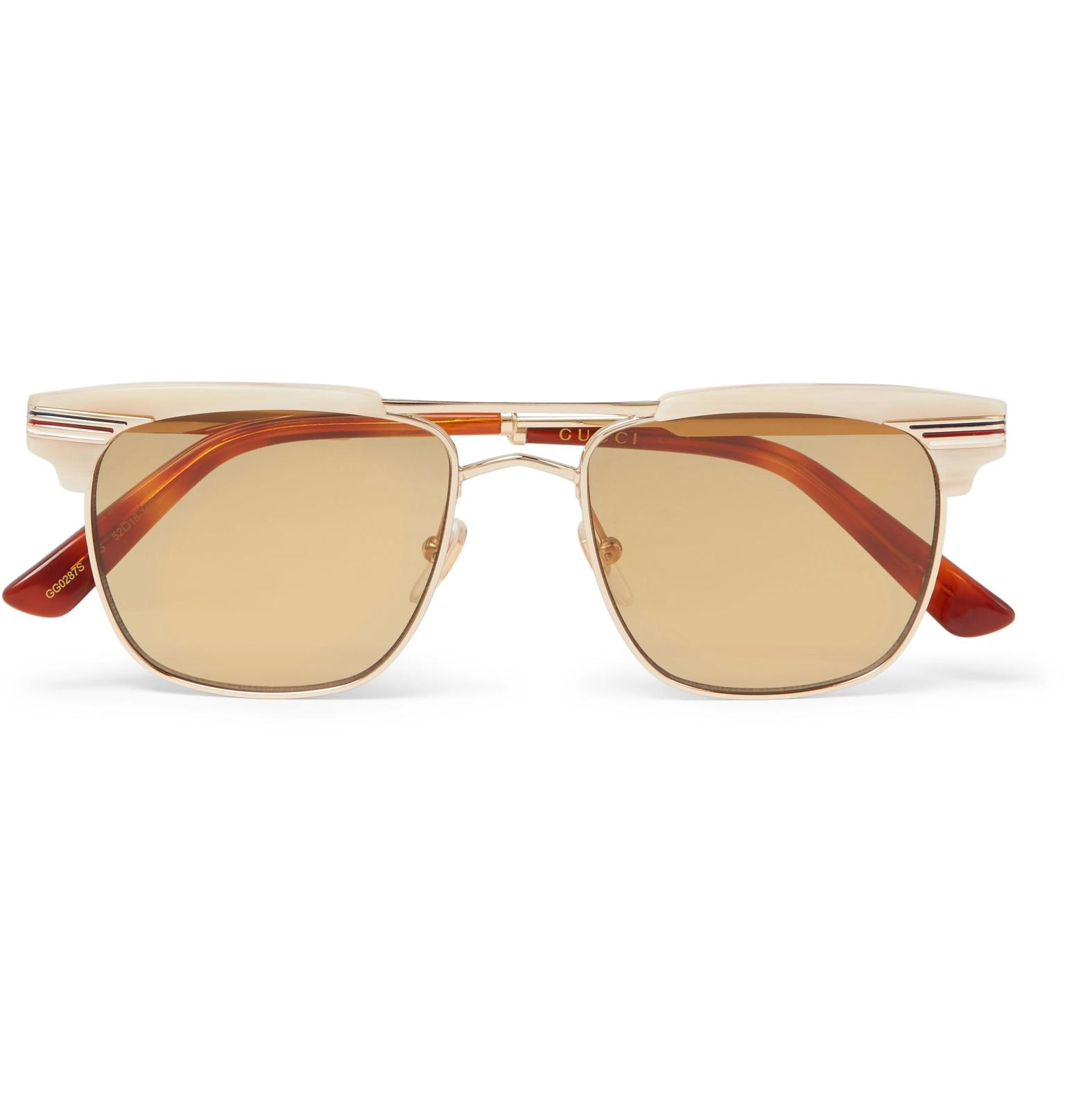 Tortoiseshell D-frame sunglasses Gucci kKFv5