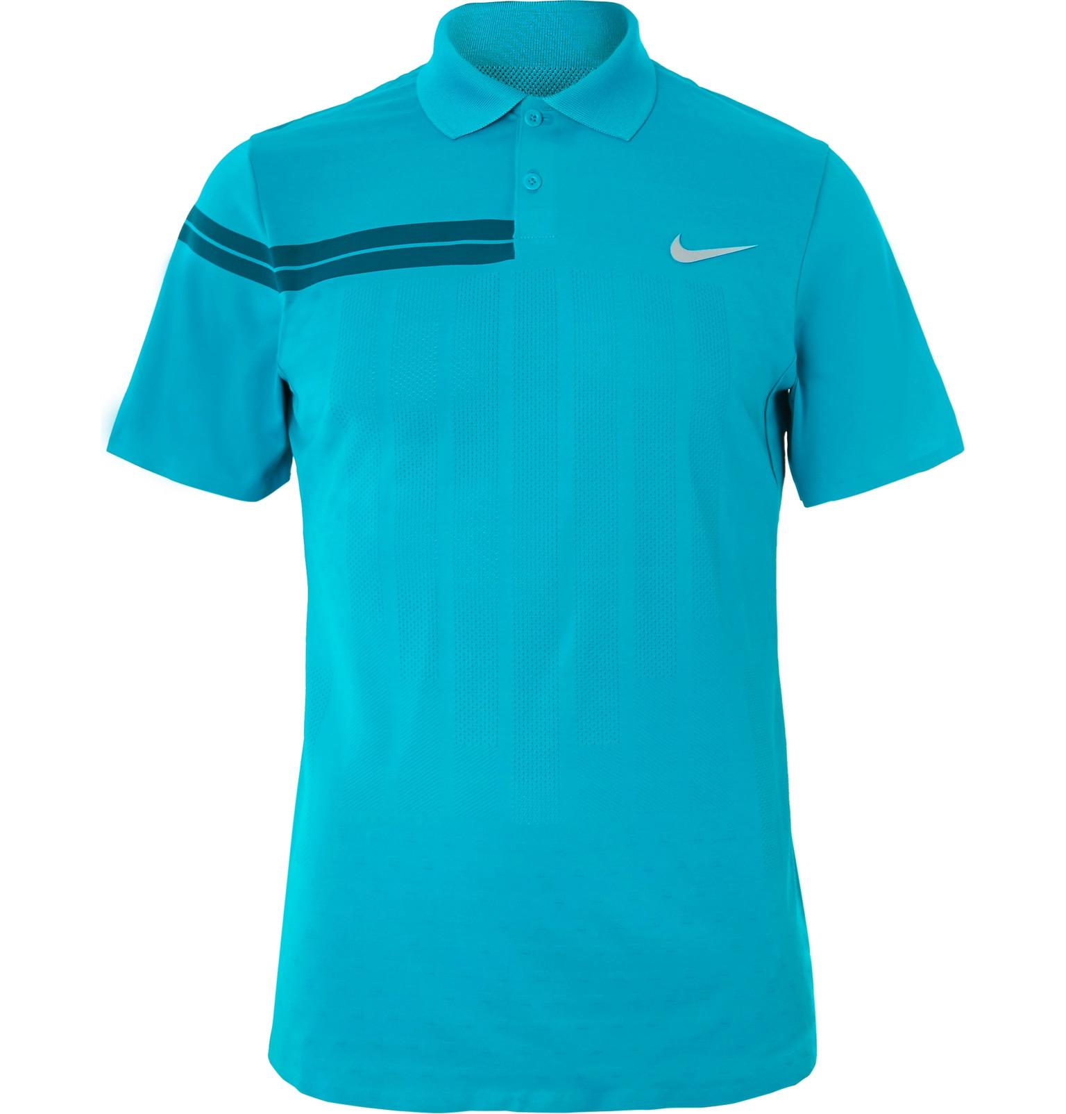 386bb3895e4c8 Nike. Men s Blue Nikecourt Zonal Cooling Roger Federer Advantage Dri-fit  Tennis Polo Shirt