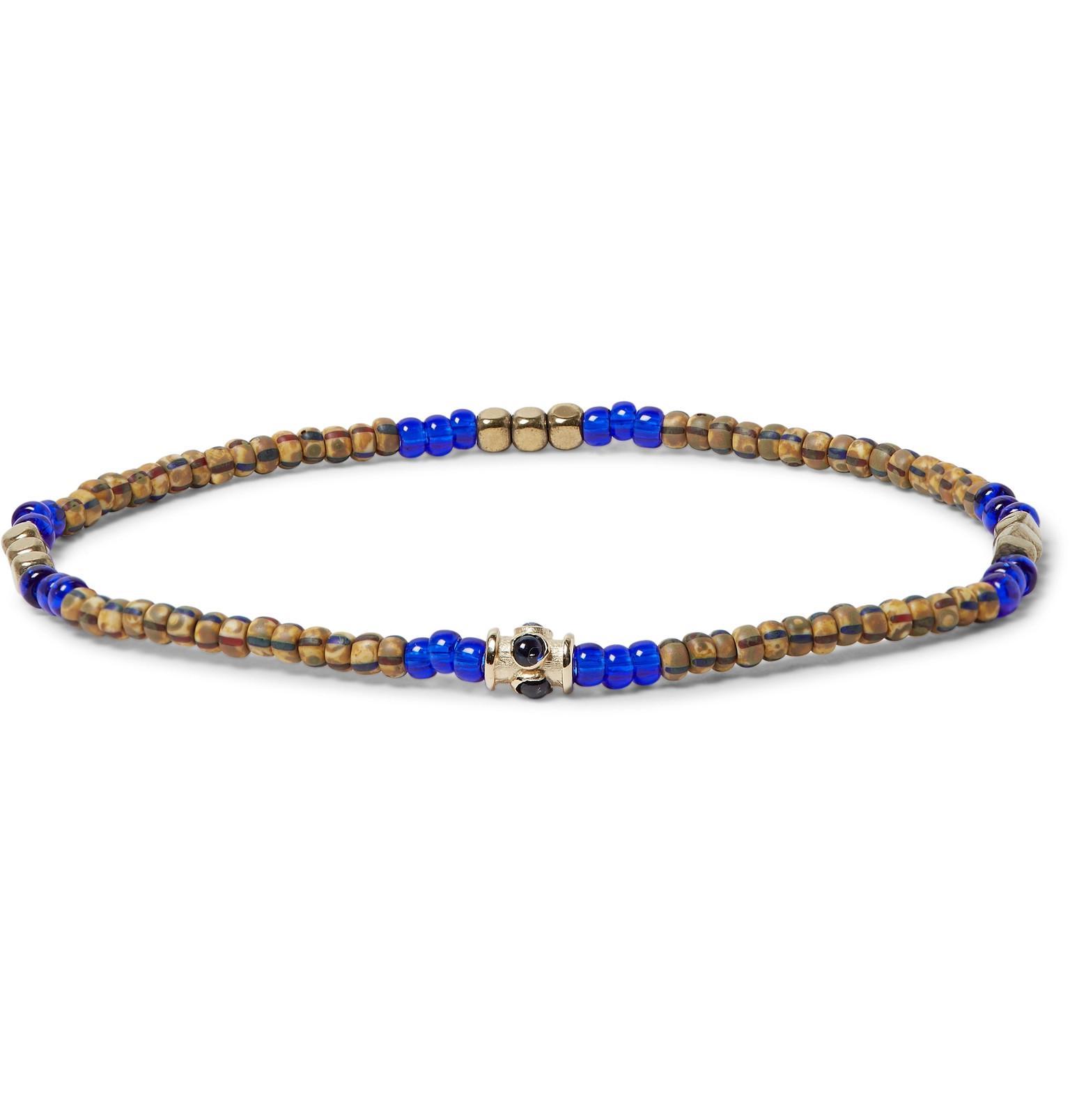 Glass, Hematite And Gold Bead Bracelet Luis Morais