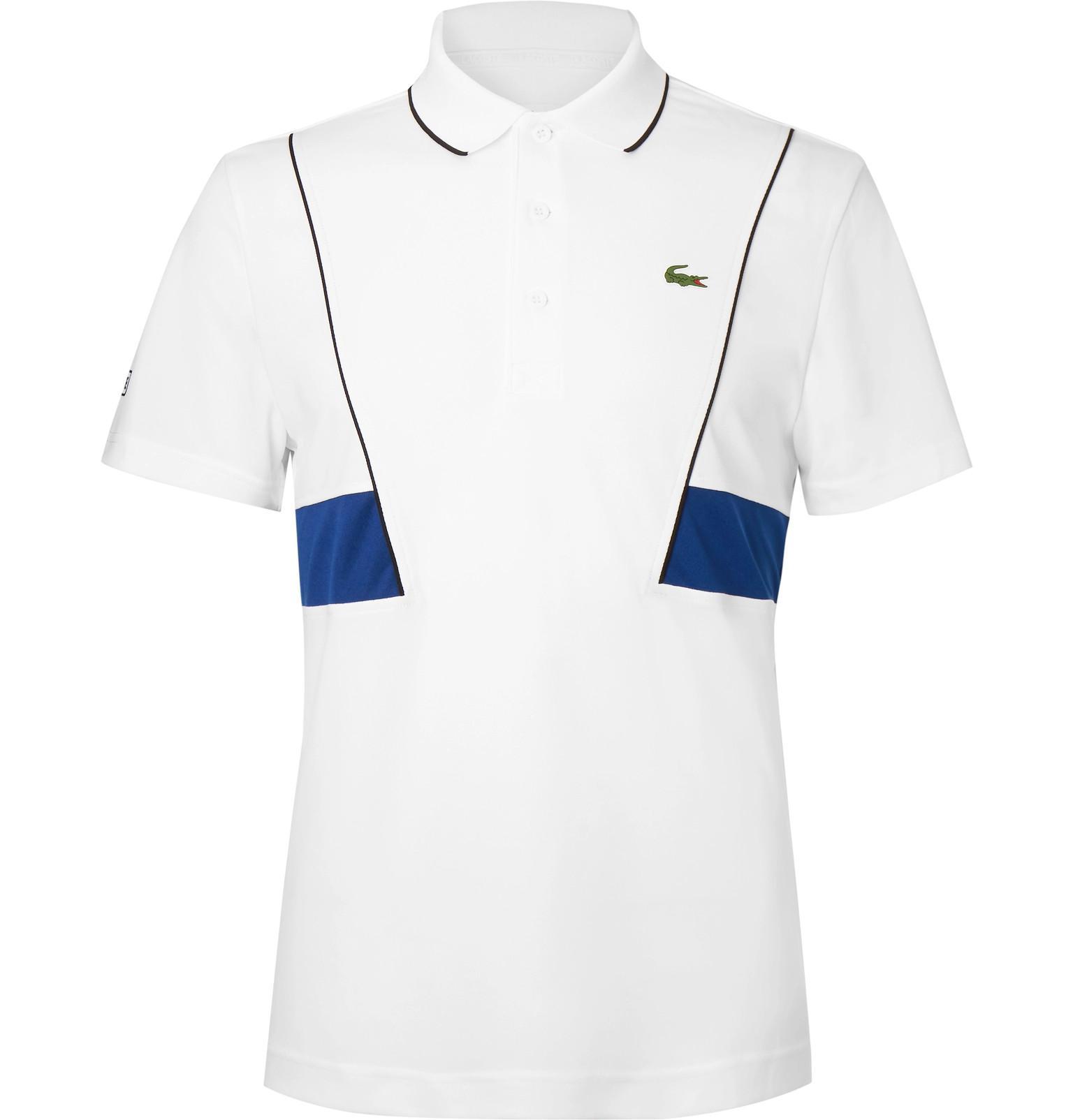 a0cd0a6fdf Sport White Polo Lacoste Tennis In Lyst Shirt Piqué Djokovic Novak ABz5ggqw