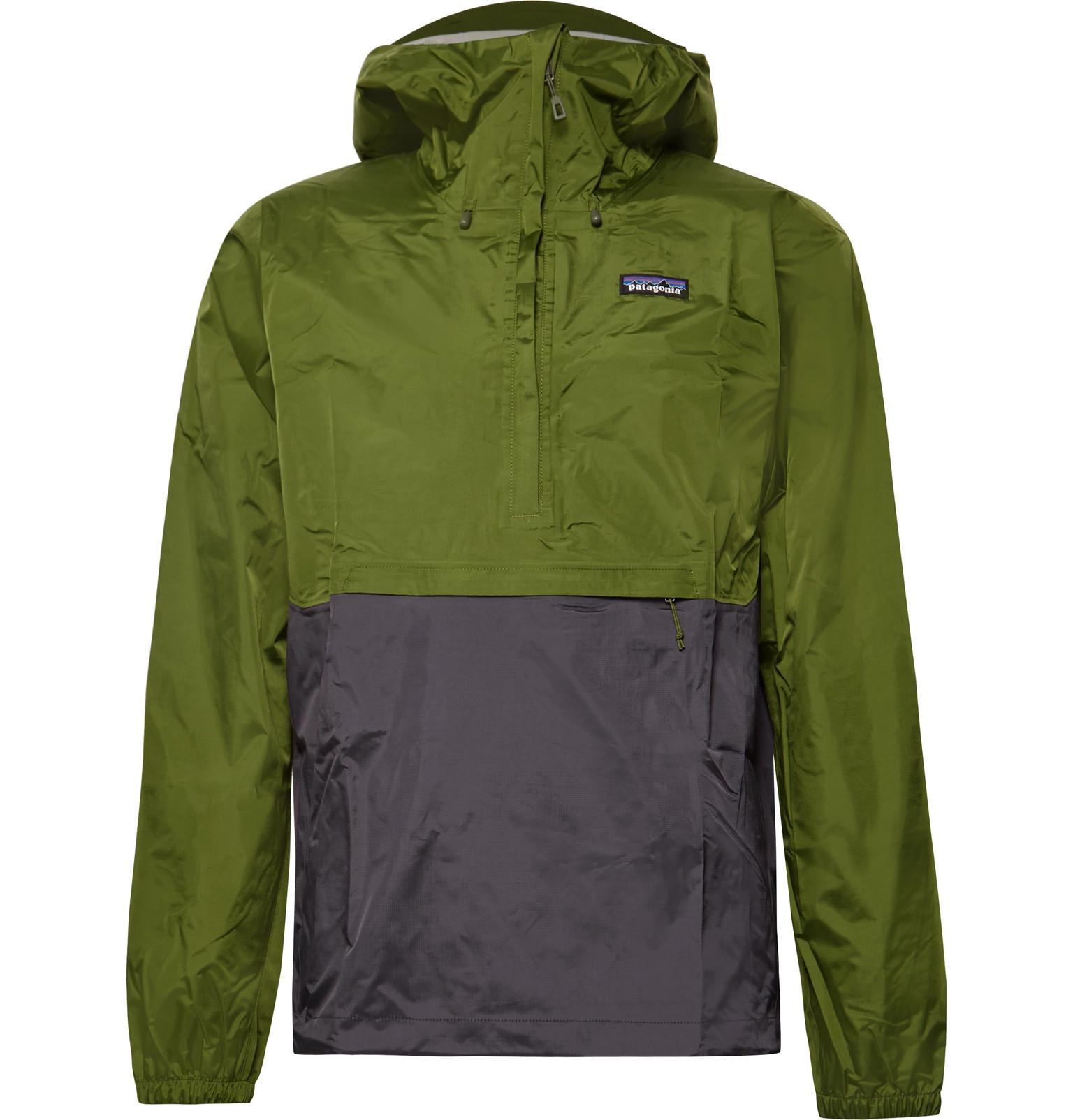 Patagonia Torrentshell Waterproof H2no Performance Standard Ripstop Hooded Jacket - Green HECxBHOR
