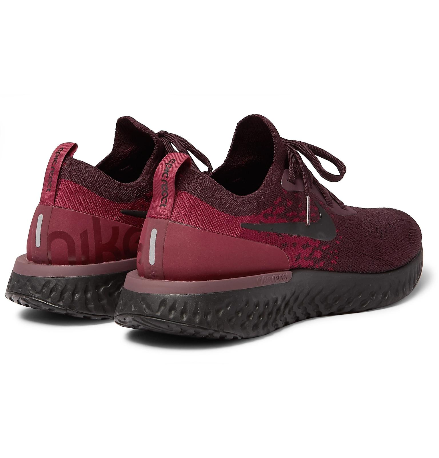 promo code da824 5e5a1 Nike Epic React Rubber-trimmed Flyknit Running Sneakers for Men - Lyst