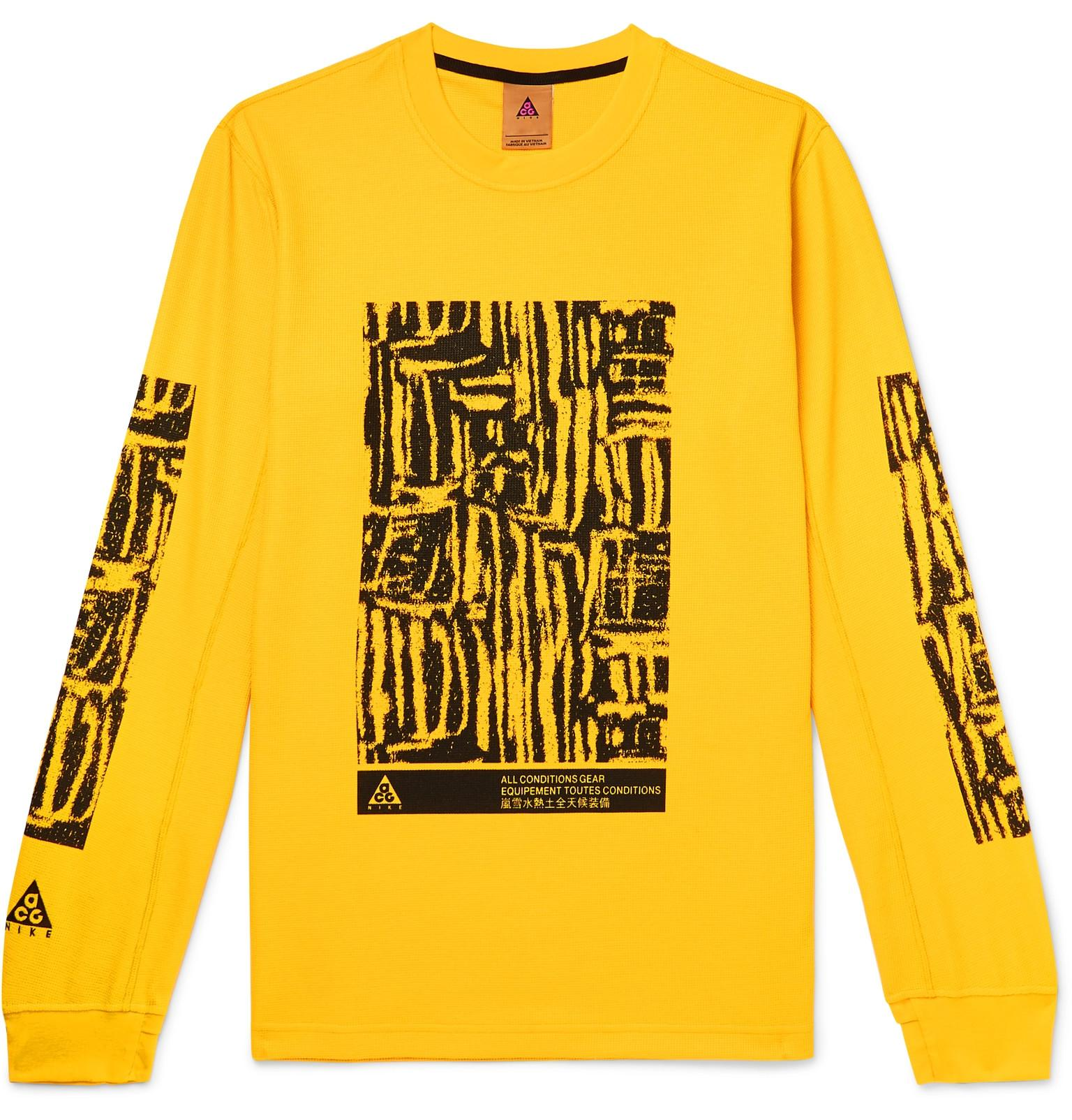 0512acde6 Nike M Nrg Acg Long Sleeve Waffle T-shirt in Yellow for Men - Save ...