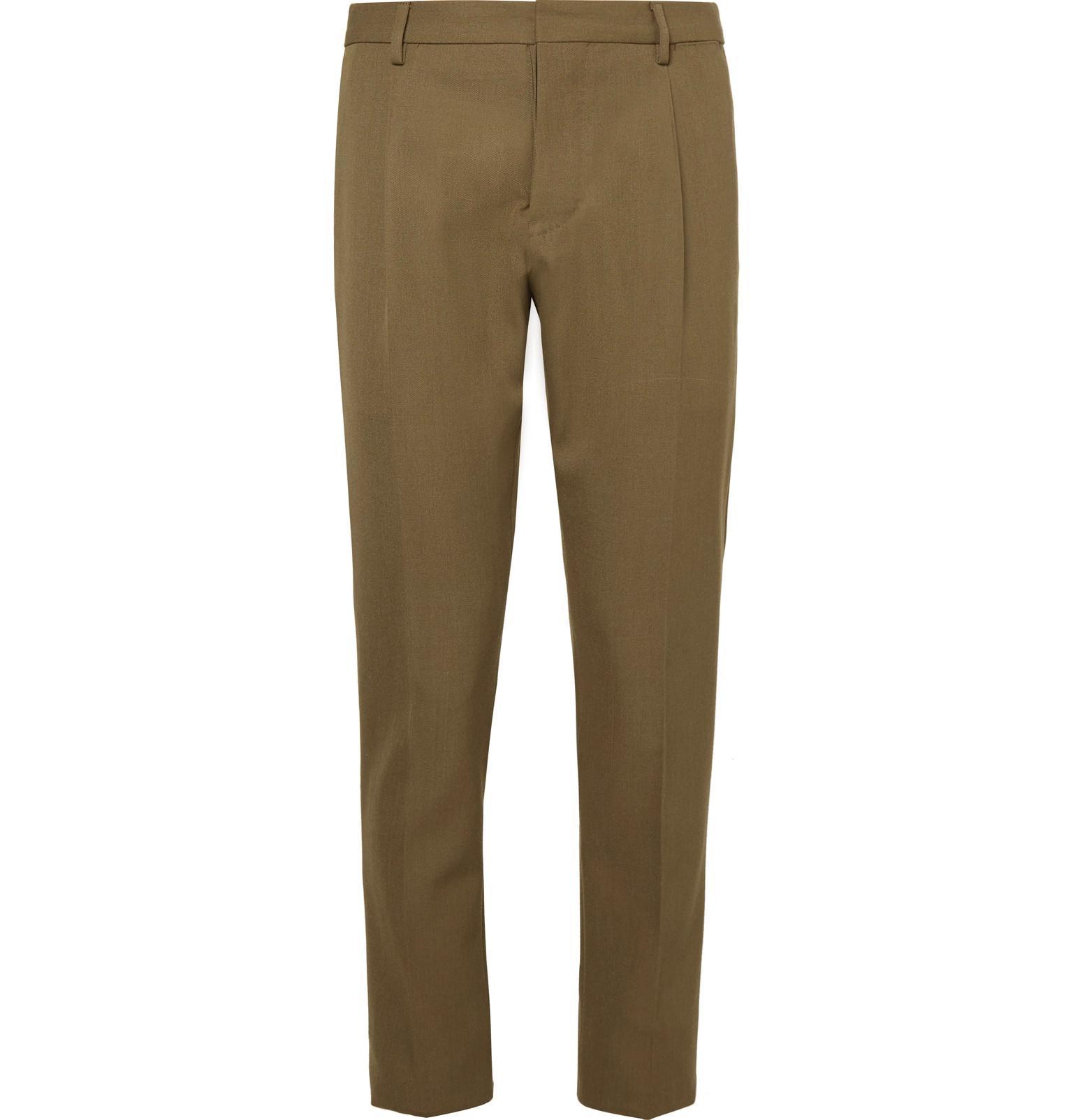 Plum Slim-fit Stretch-cotton Velvet Suit Trousers Berluti Sale Discounts Authentic For Sale Very Cheap Sale Online Buy Cheap Geniue Stockist Best Store To Get Online vLkSQV6E1i