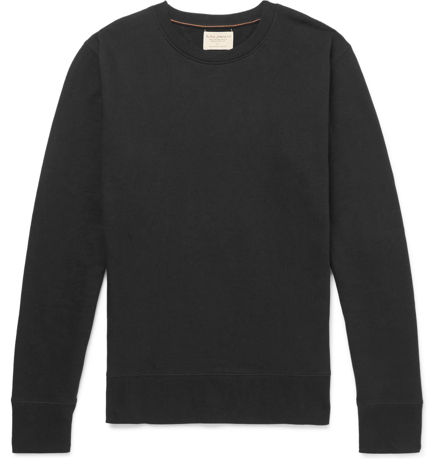 Loopback Sweatshirt Organic Cotton Black Jeans jersey Evert Nudie BIZqHdI