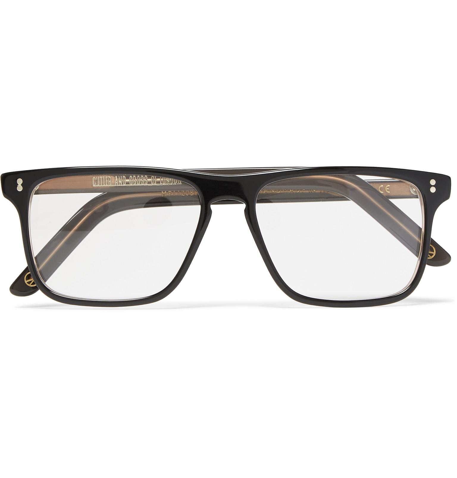 3ece3989bd Lyst - Kingsman Cutler And Gross Square-frame Acetate Optical ...