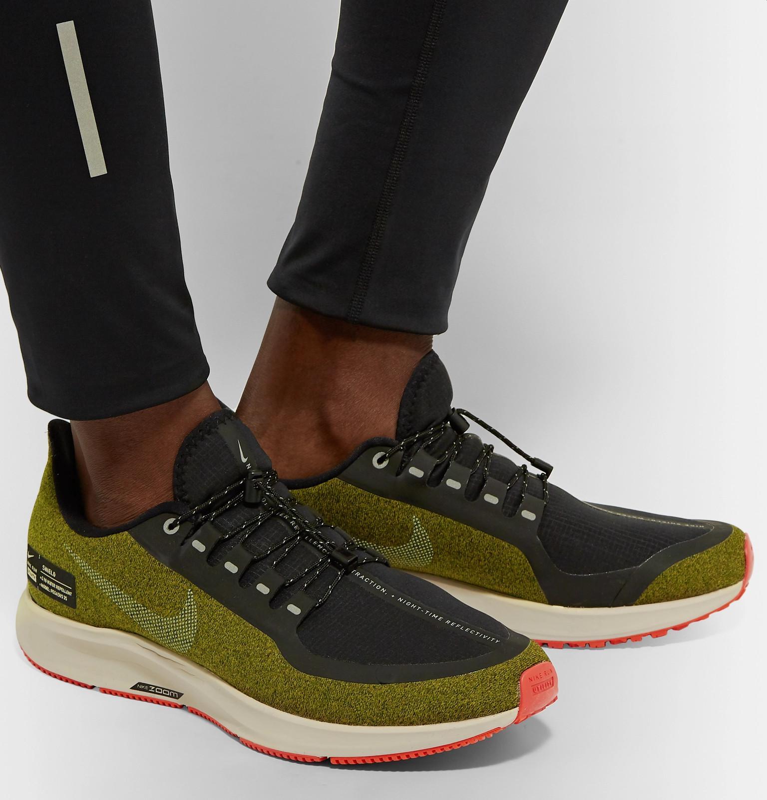 Nike - Green Air Zoom Pegasus 35 Shield Water-repellent Sneakers for Men -  Lyst. View fullscreen 08d9fcb4c3c4